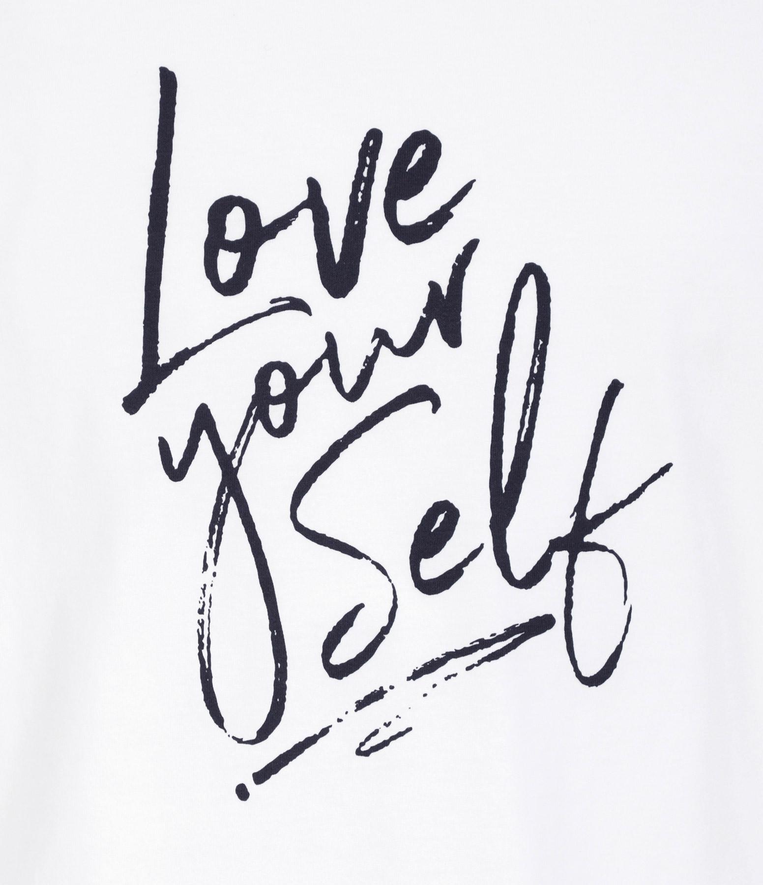 JEANNE VOULAND - Tee-shirt Fael Love Yourself Coton Biologique Blanc