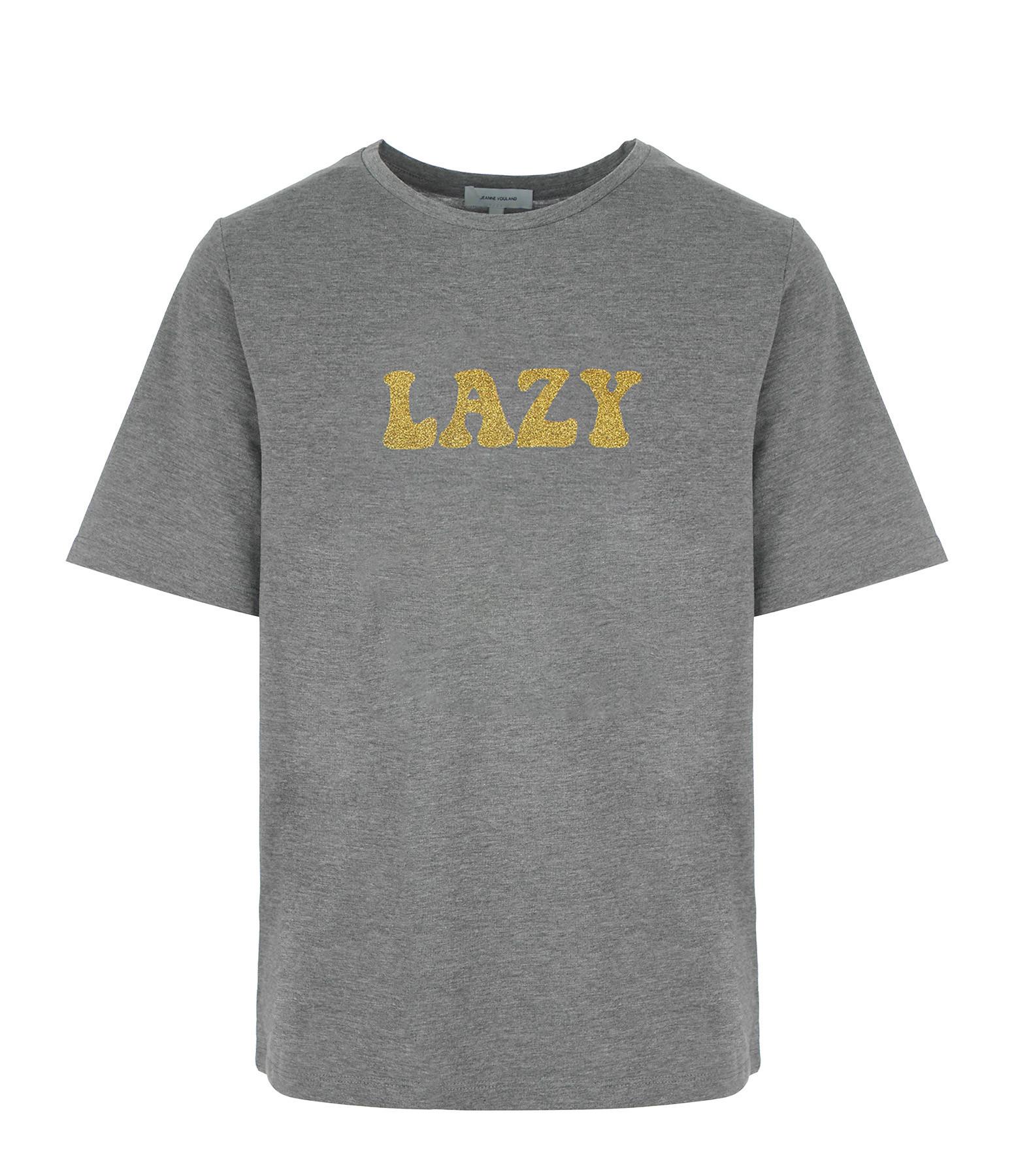 JEANNE VOULAND - Tee-shirt Gus Lazy Glitter Doré Gris