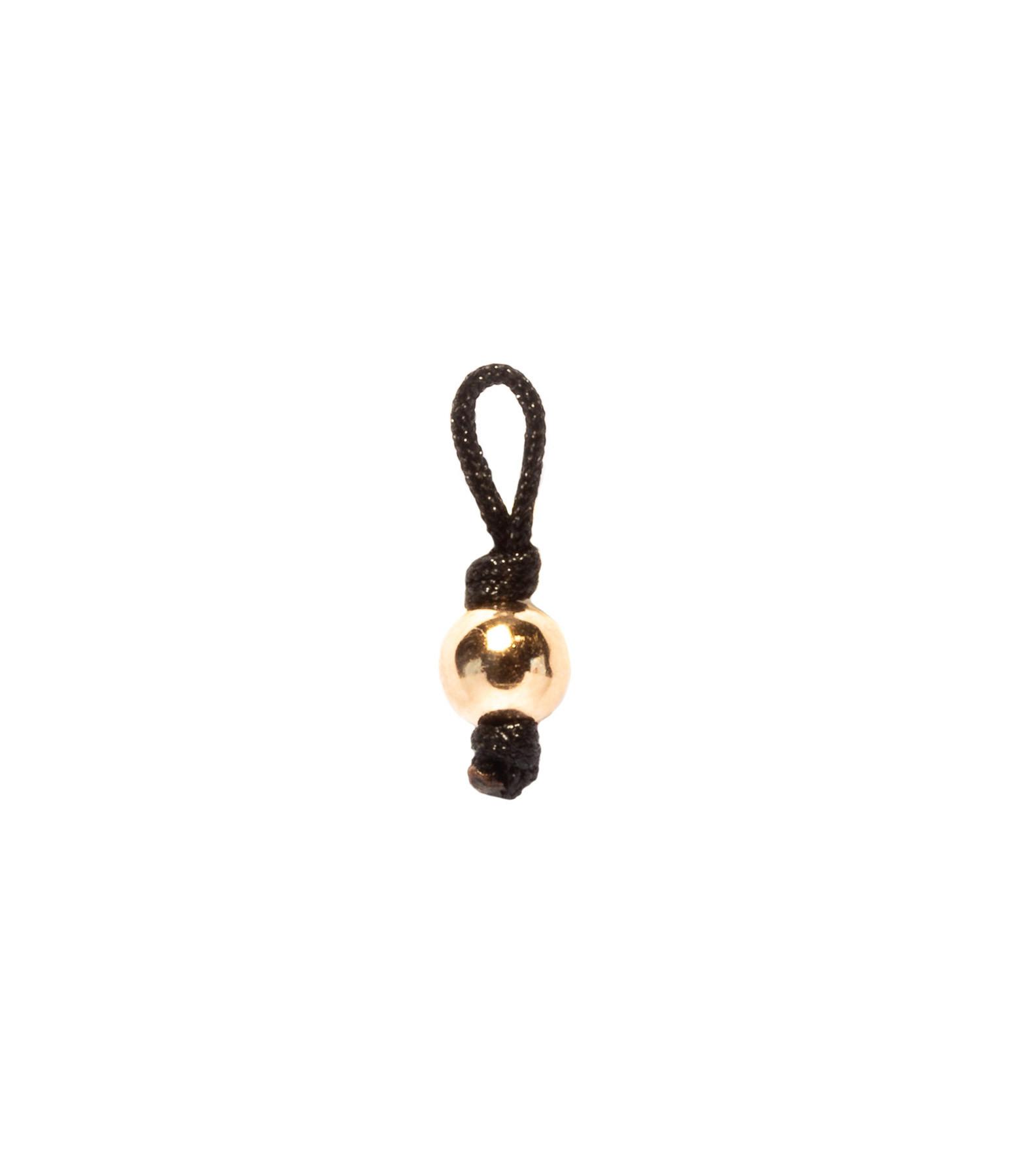 LSONGE - Collier Sublime M Comme Méditer Maxi Perle Noir Or