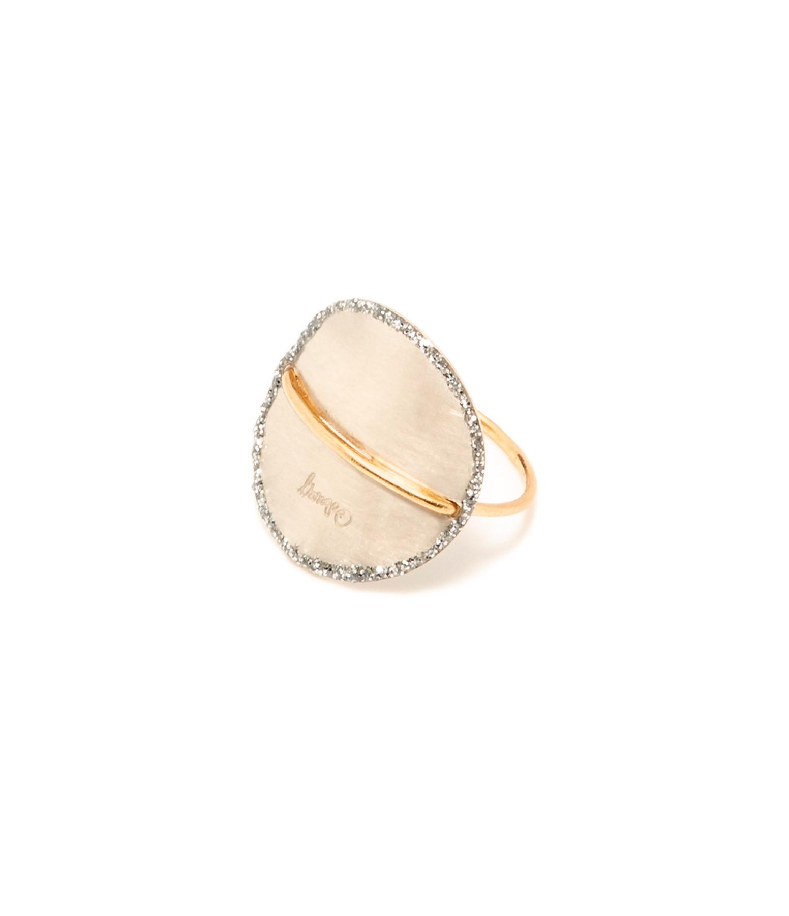 LSONGE - Bague Sublime Médaille XL Argent Blanc