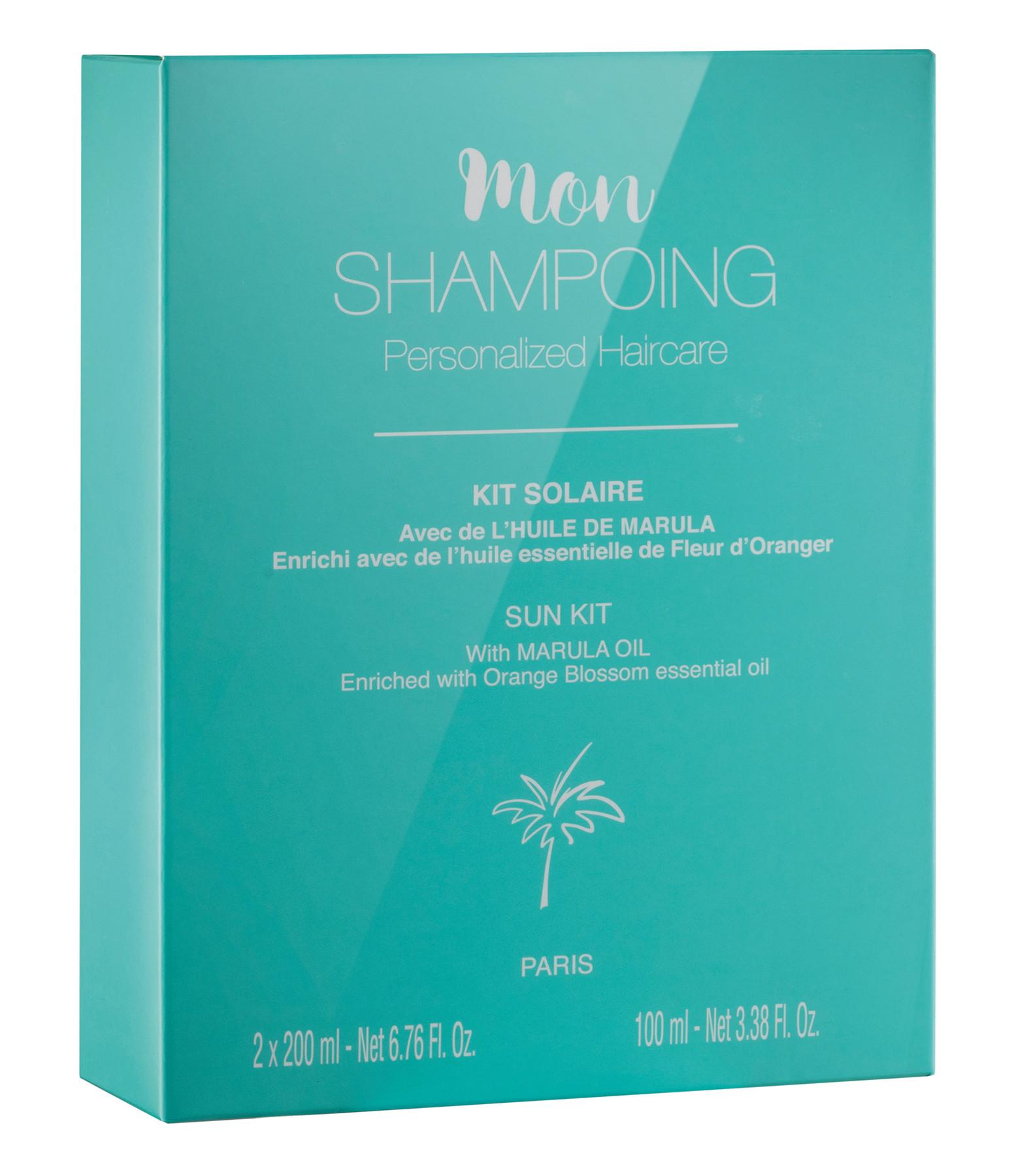 MON SHAMPOING - Kit Solaire Cheveux Huile de Marula 500ml
