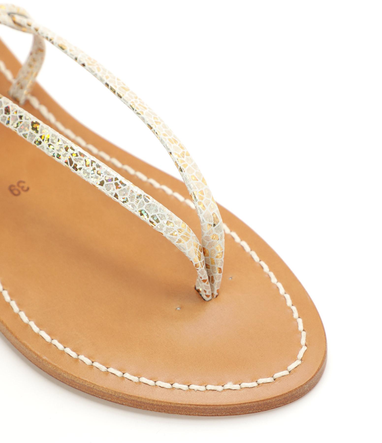 K.JACQUES - Sandales Abako Cuir Batura Platine
