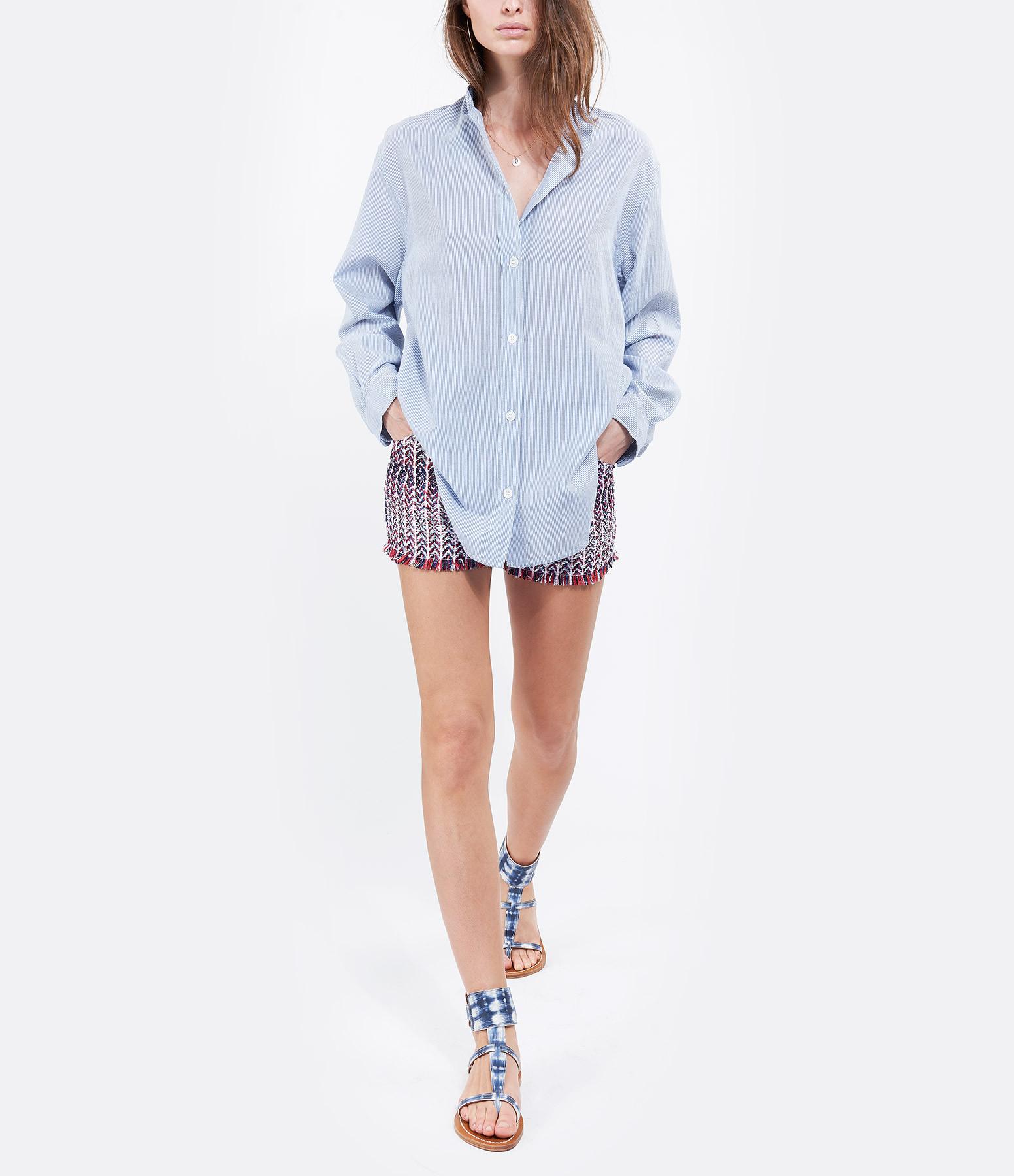 K.JACQUES - Sandales Caravelle Cuir Arat Bleu