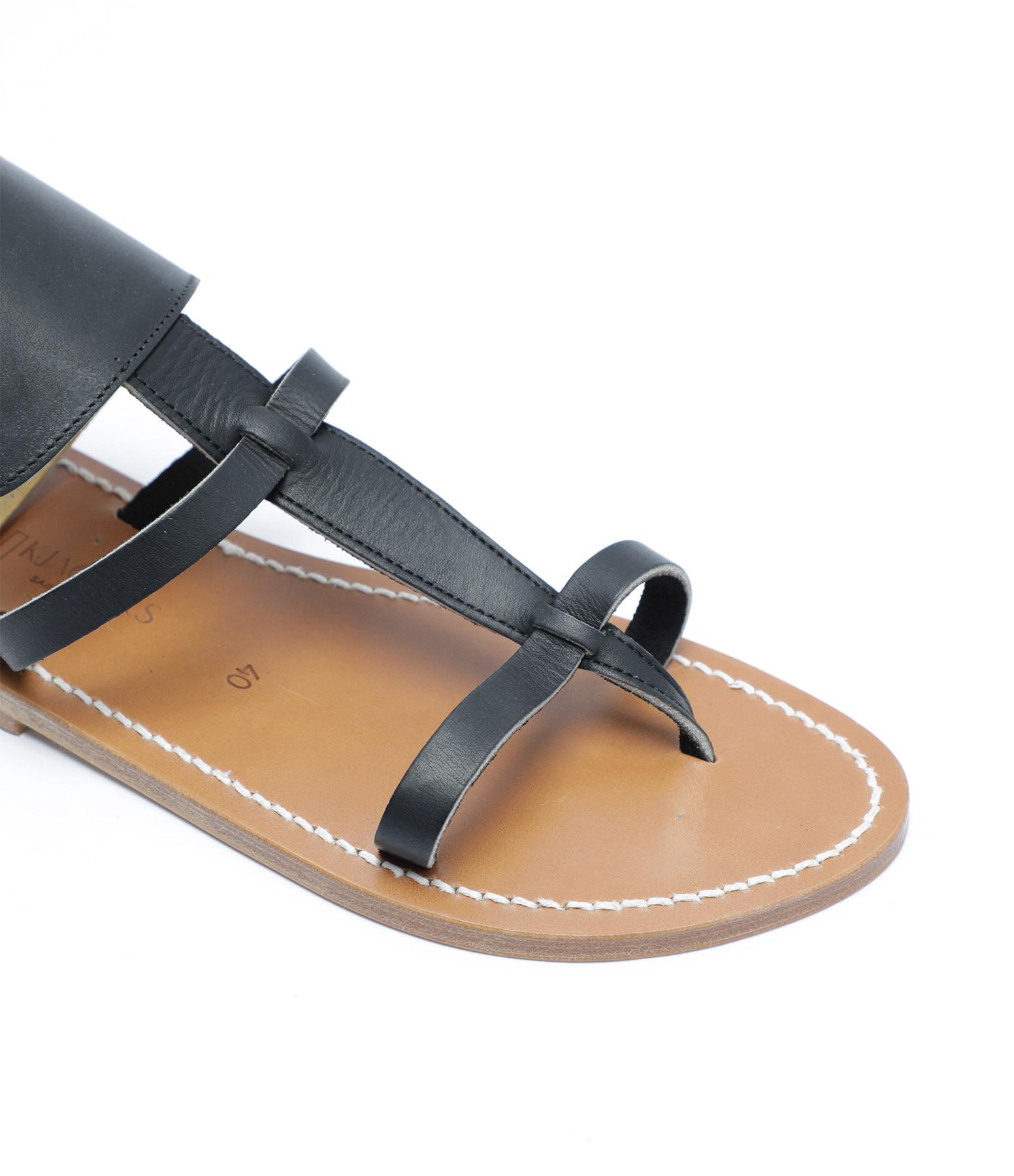 K JACQUES - Sandales Caravelle Cuir Pul Noir
