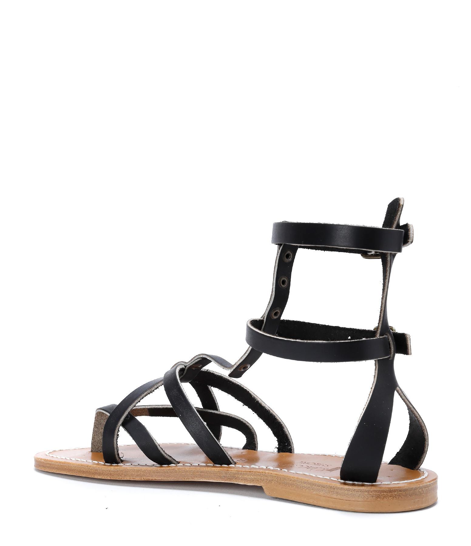 K JACQUES - Sandales Peryton Pul Noir Bronze