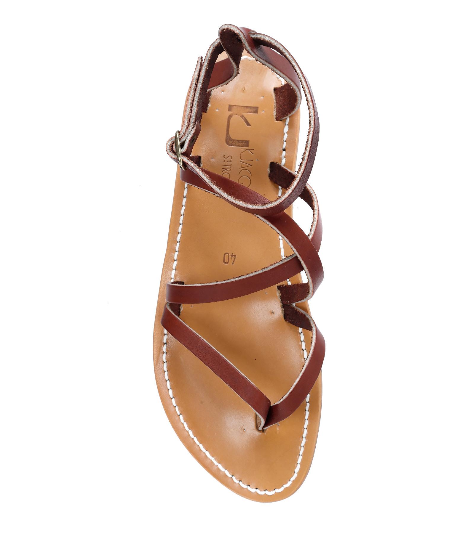 K JACQUES - Sandales Epicure Pul Bordo