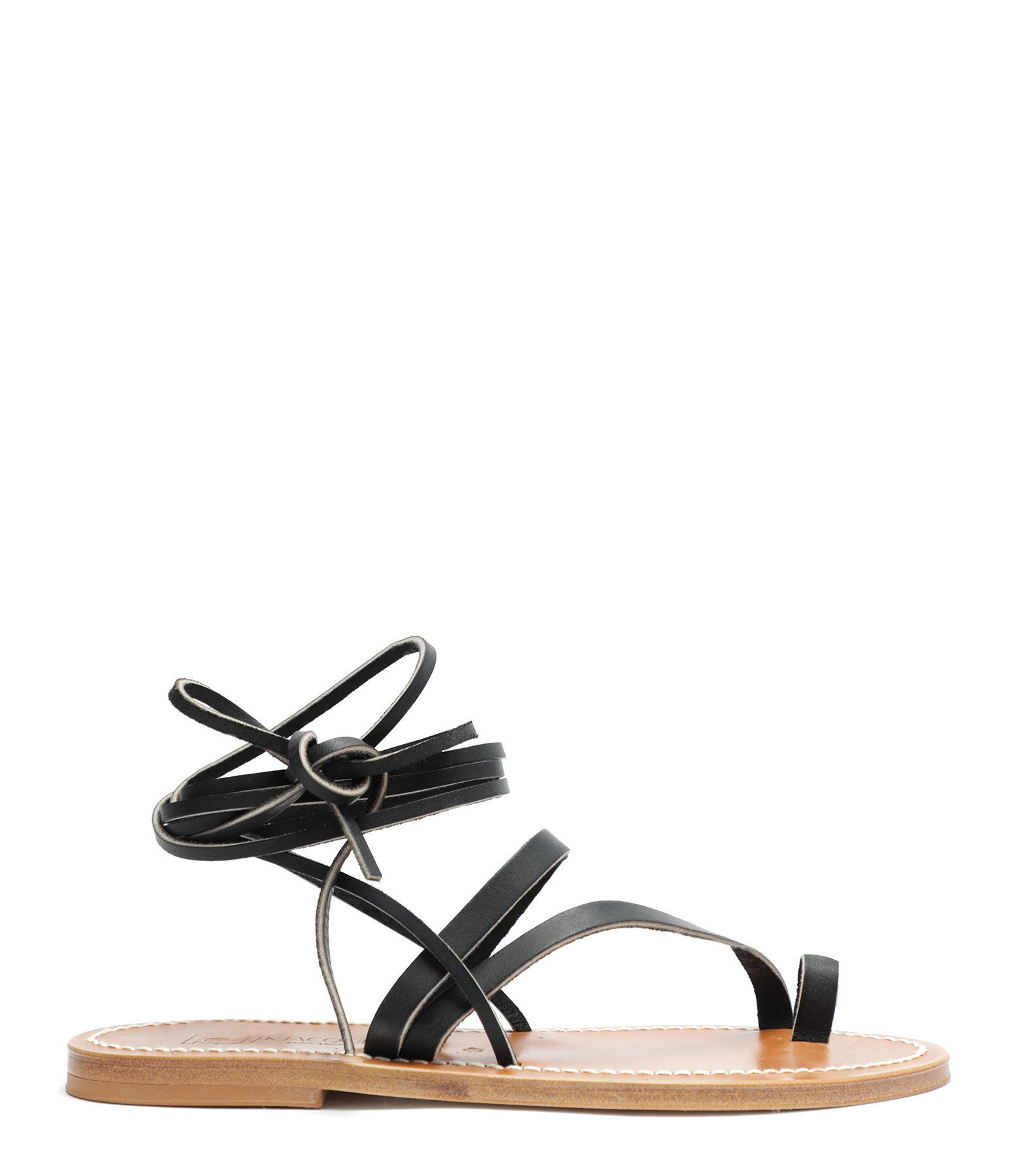 K.JACQUES - Sandales Ellada Cuir Pul Noir
