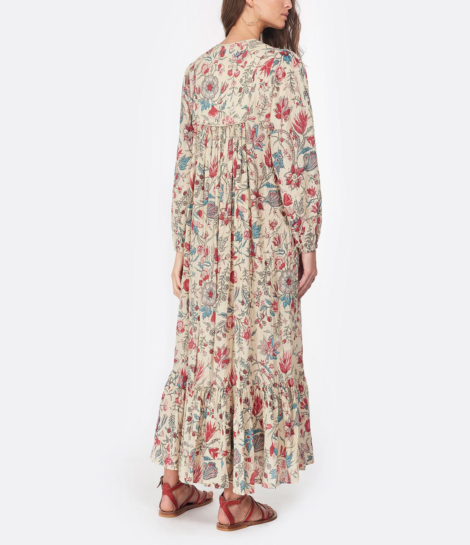 LAURENCE BRAS - Robe Indienne Coton Imprimé Floral