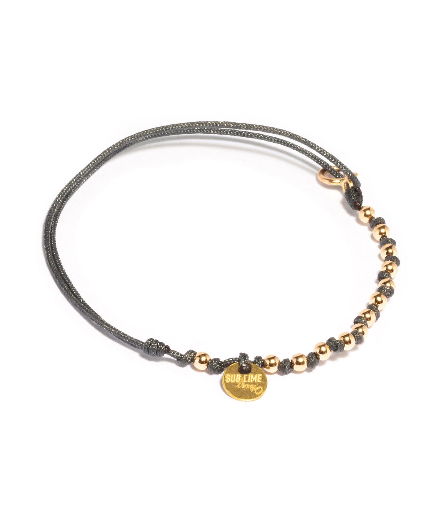 LSONGE - Bracelet Sublime M Comme Méditer 13 Perles Carbone