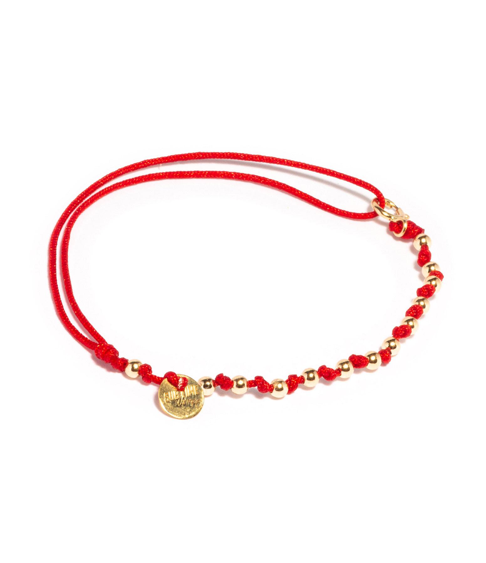 LSONGE - Bracelet Sublime M Comme Méditer 13 Perles Rubis O