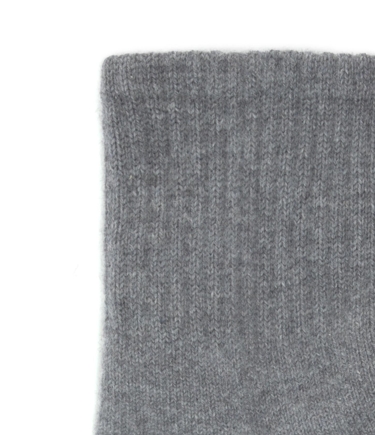 KUJTEN - Chaussettes Socks Cachemire Gris Flanelle