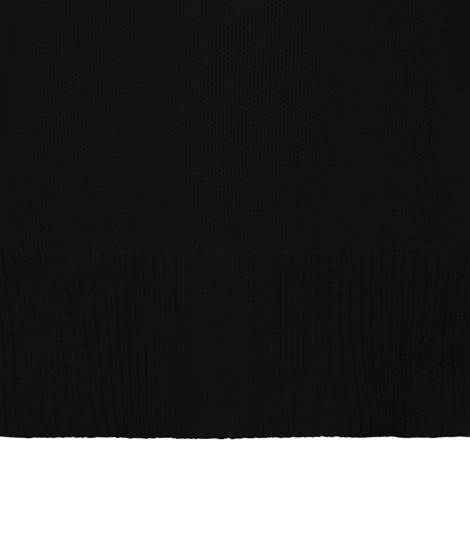 KUJTEN - Pull  Ulla Col Cheminé Oversize Cachemire Noir