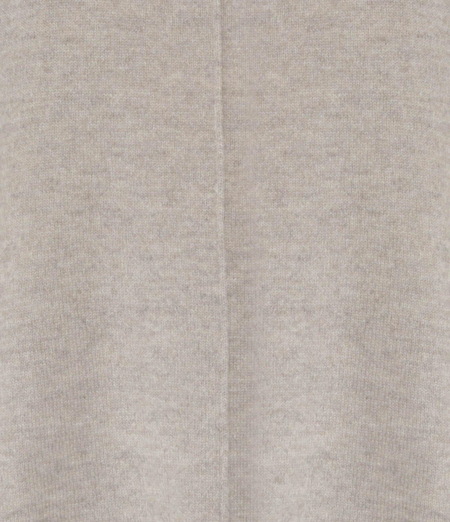 KUJTEN - Pull Col Rond Cachemire Beige Chiné