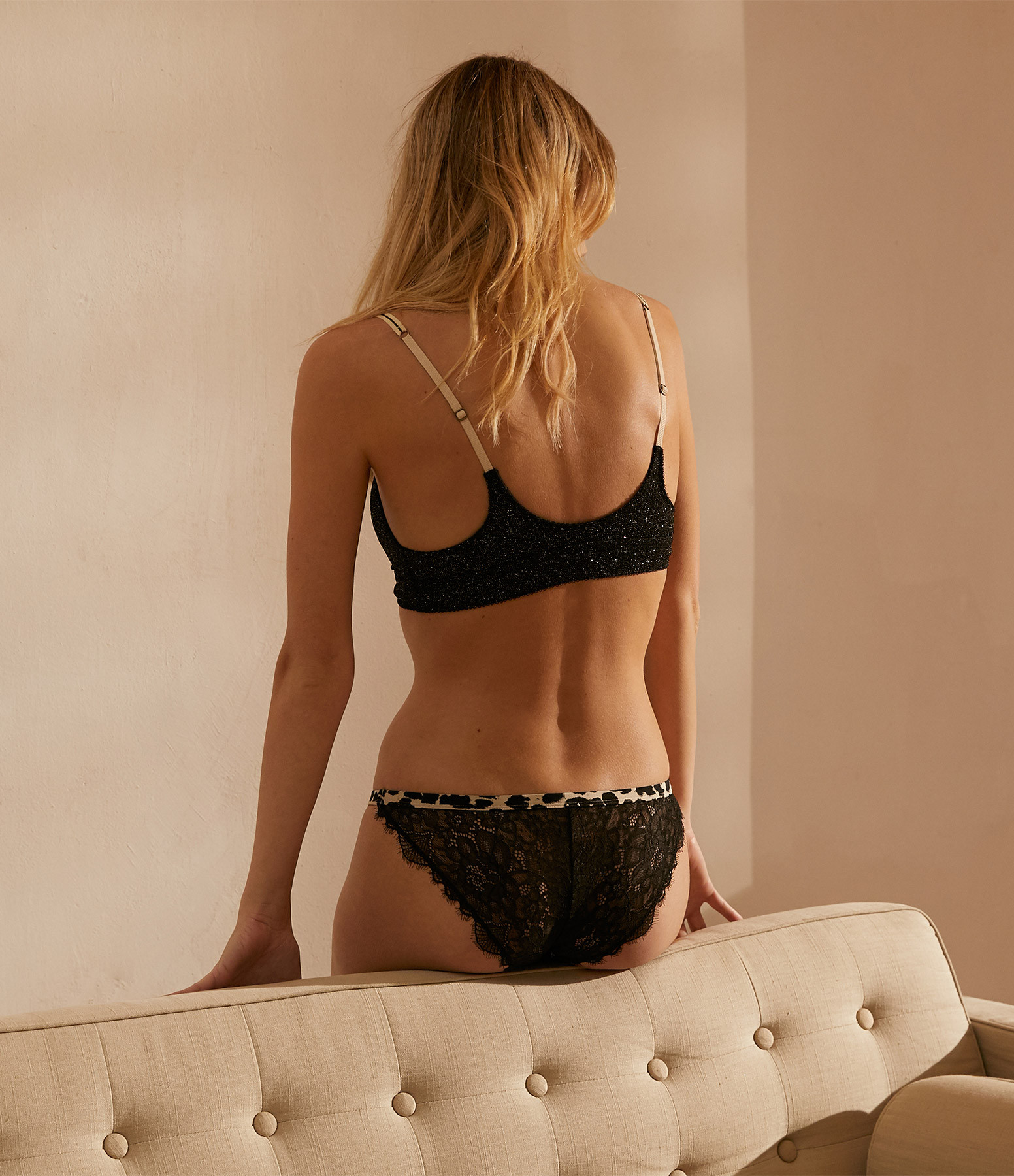 LOVE STORIES - Culotte Wild Rose Dentelle Noir
