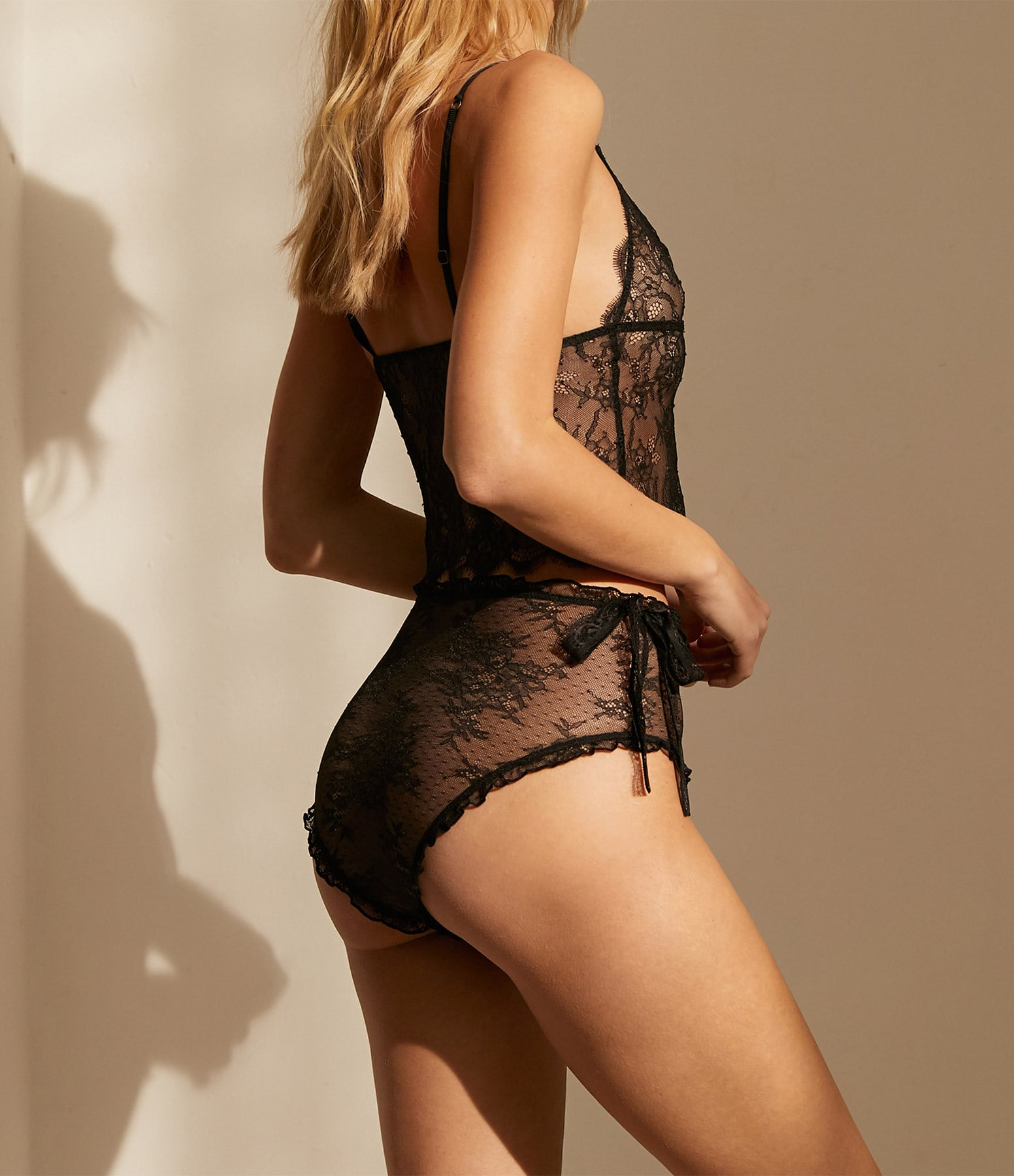 LOVE STORIES - Soutien-gorge Dawn Long Dentelle Noir