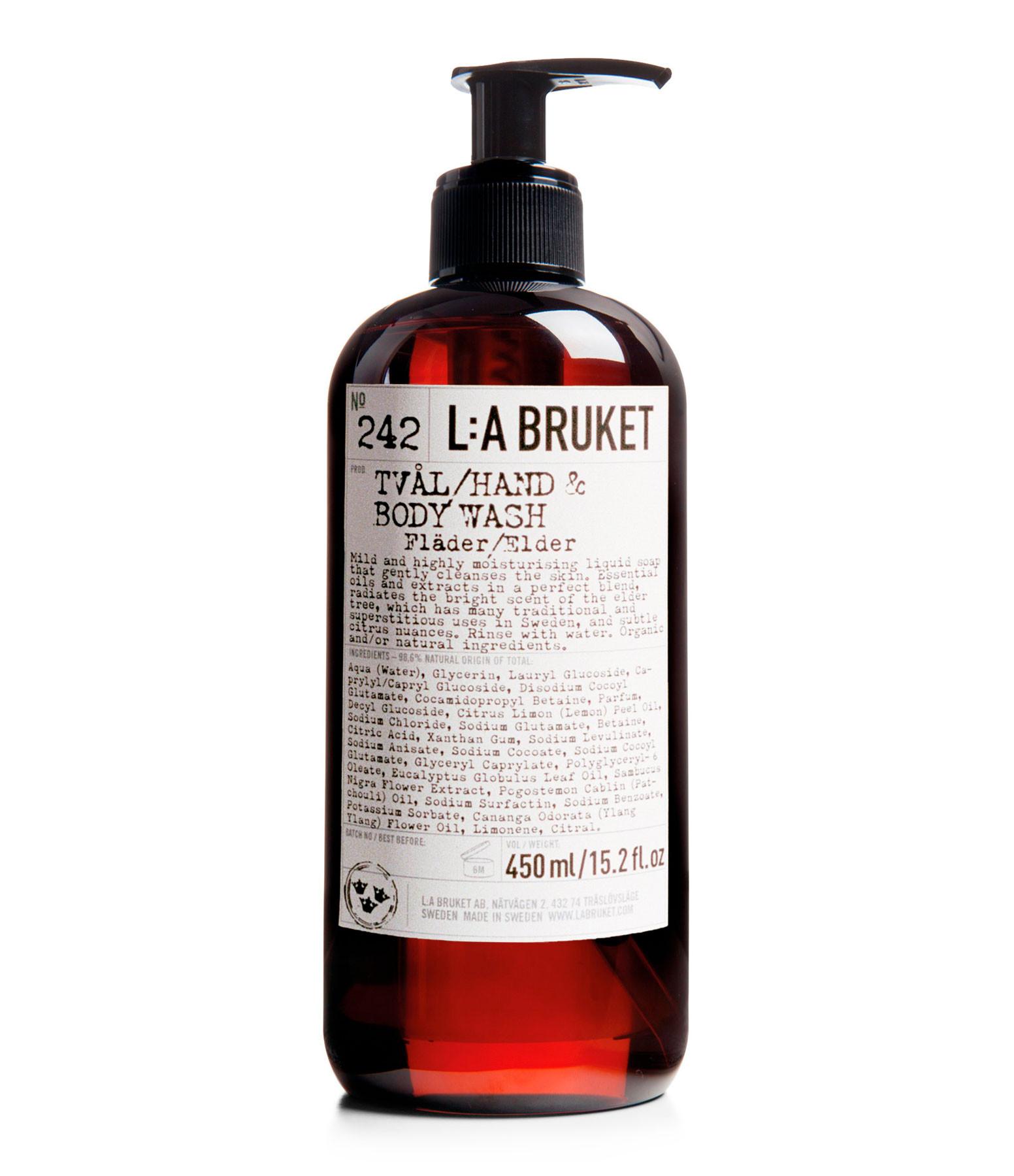 L:A BRUKET - N°242 Savon Mains et Corps Fleur de Sureau, 450ml