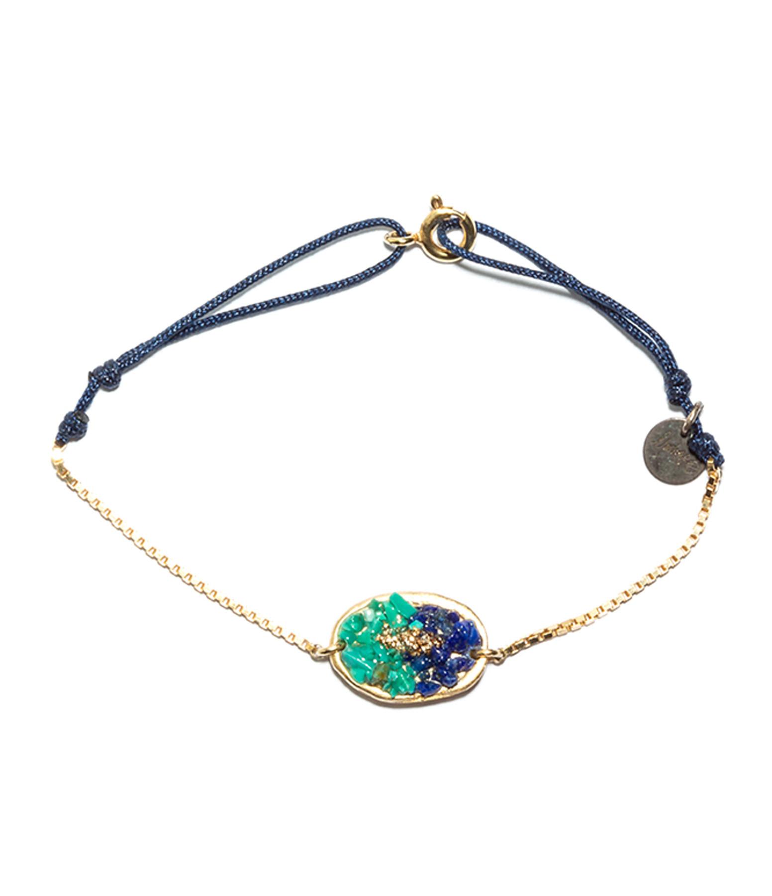 LSONGE - Bracelet Cordon Lakota M Lapis Turquoise