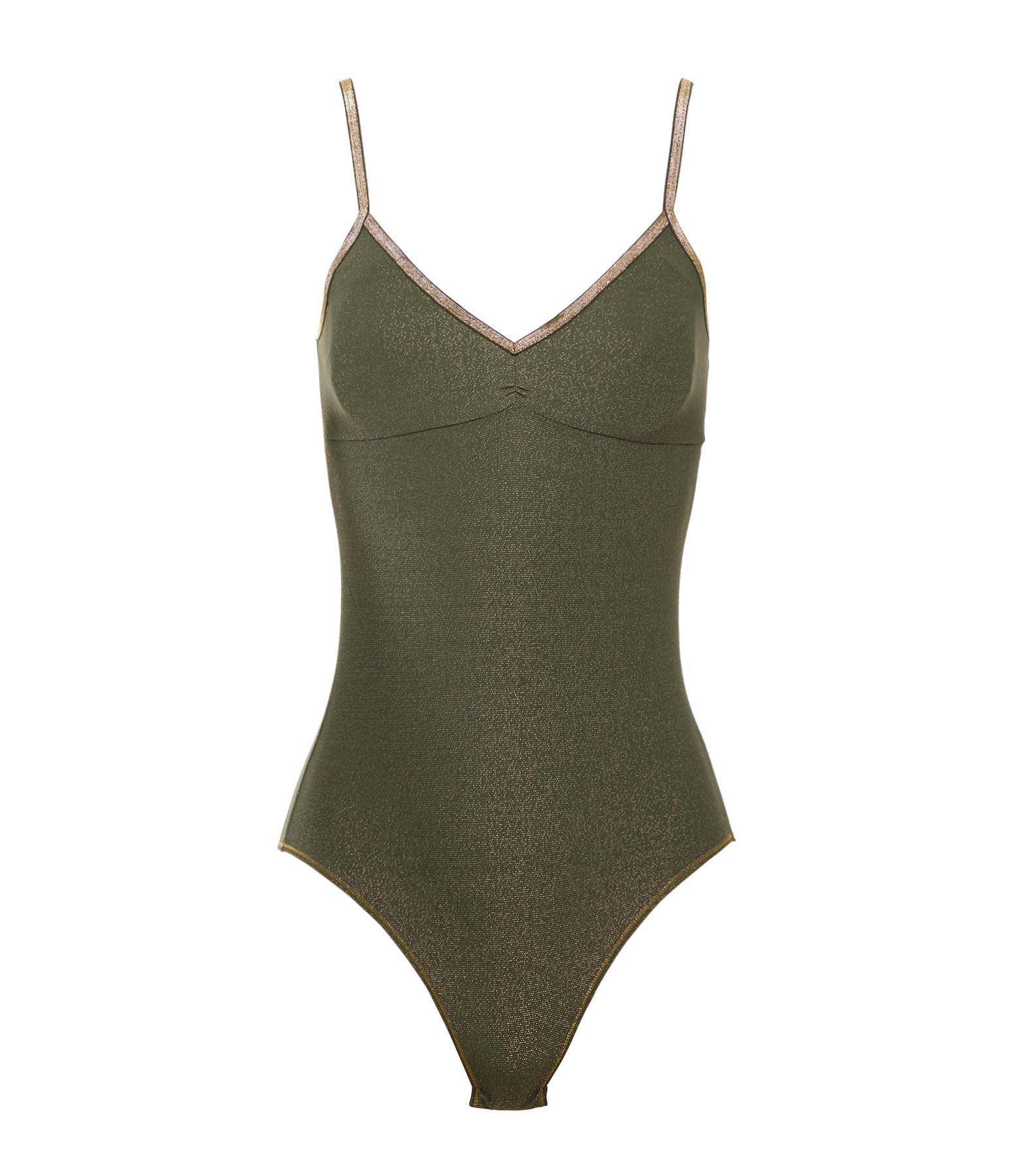 LA NOUVELLE - Body Bretelles Georgia Lurex Vert