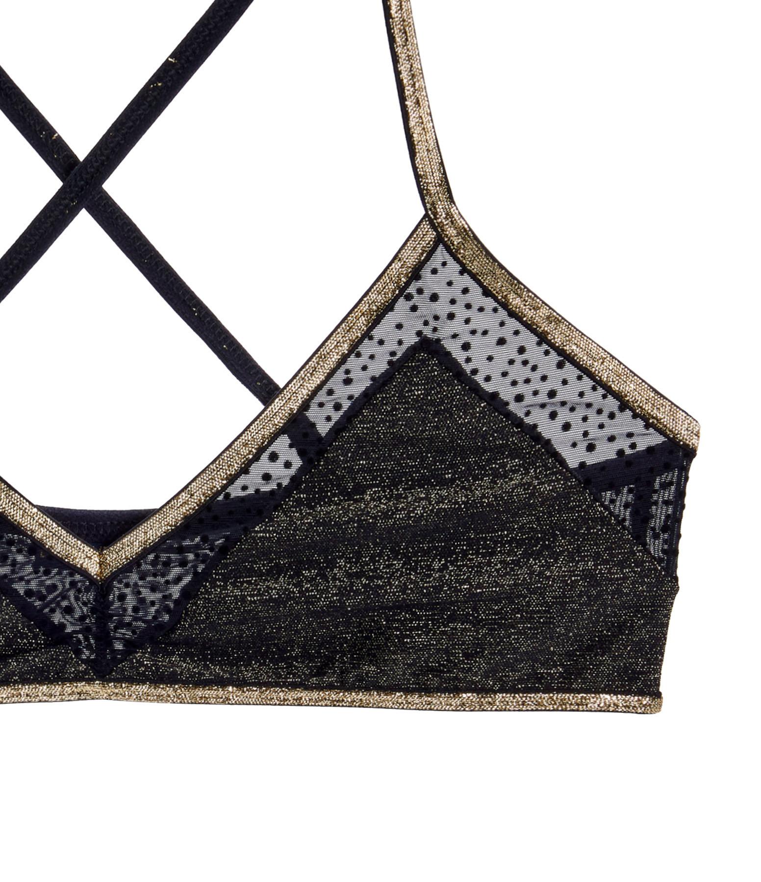 LA NOUVELLE - Brassière Gala Bi Matière Lurex Noir