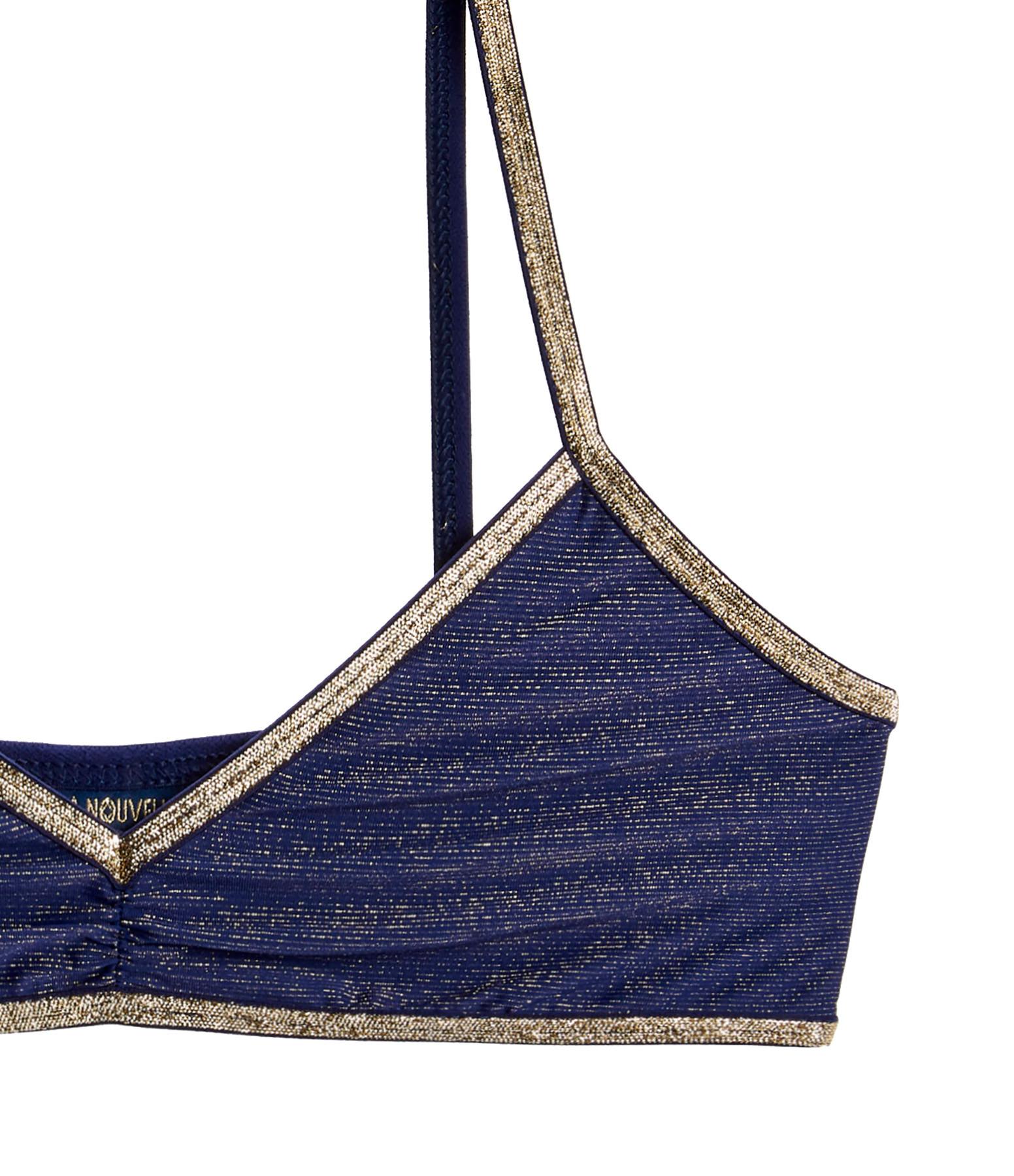 LA NOUVELLE - Brassiere Georgia Lurex Bleu Nuit
