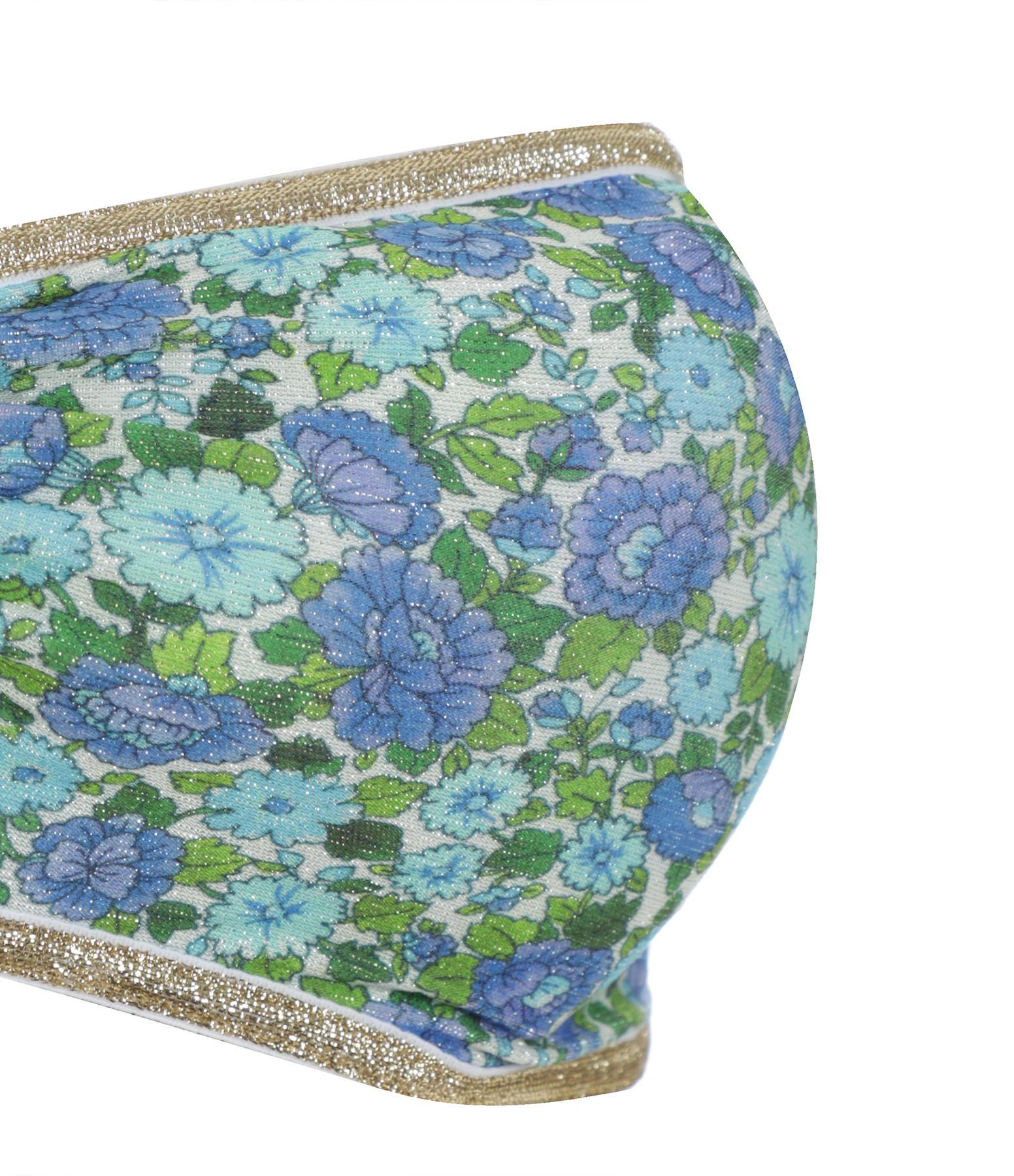 LA NOUVELLE - Haut de Maillot de Bain Eugénie Imprimé Liberty Bleu