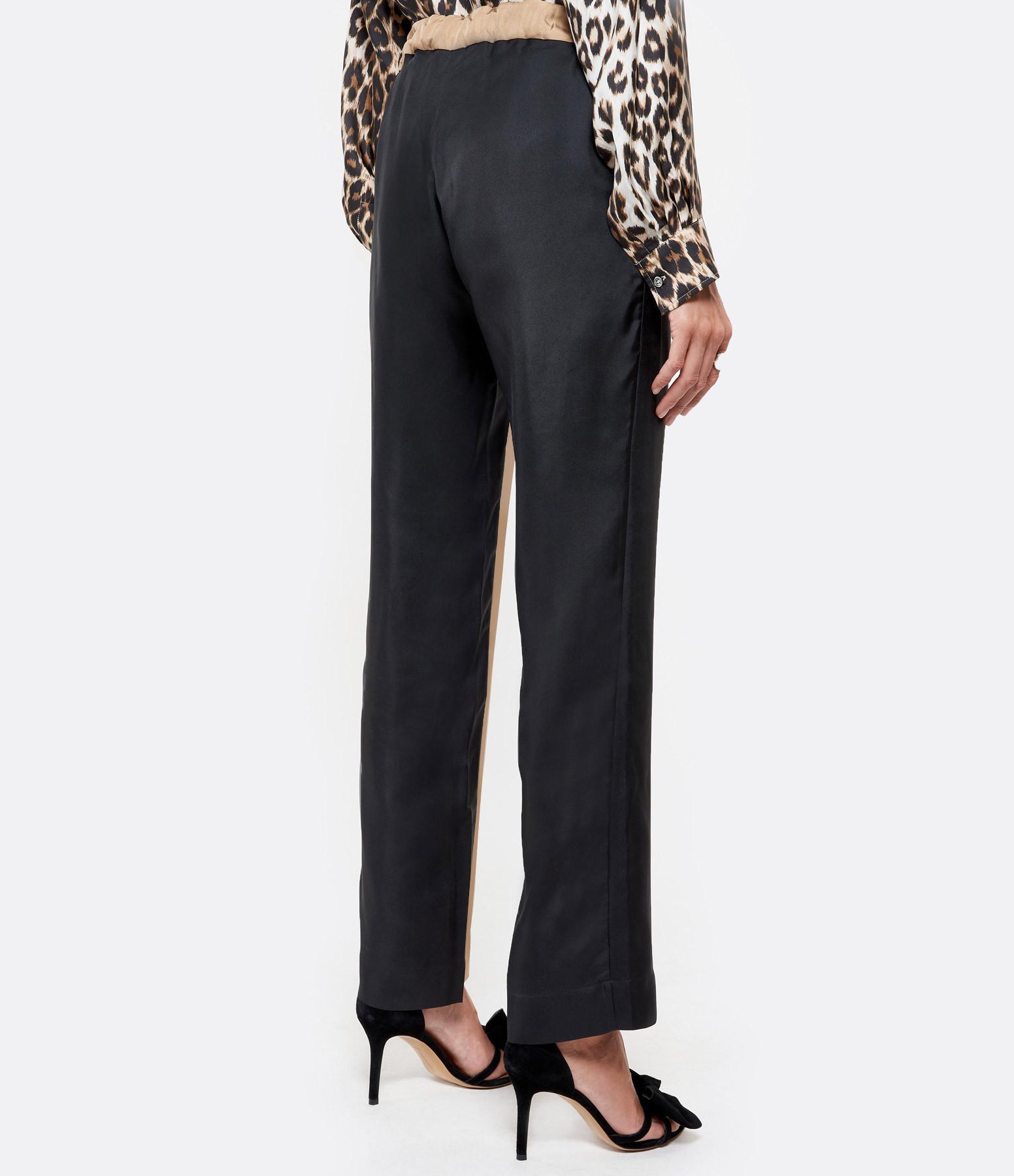 LA PRESTIC OUISTON - Pantalon Lucky Soie Noir