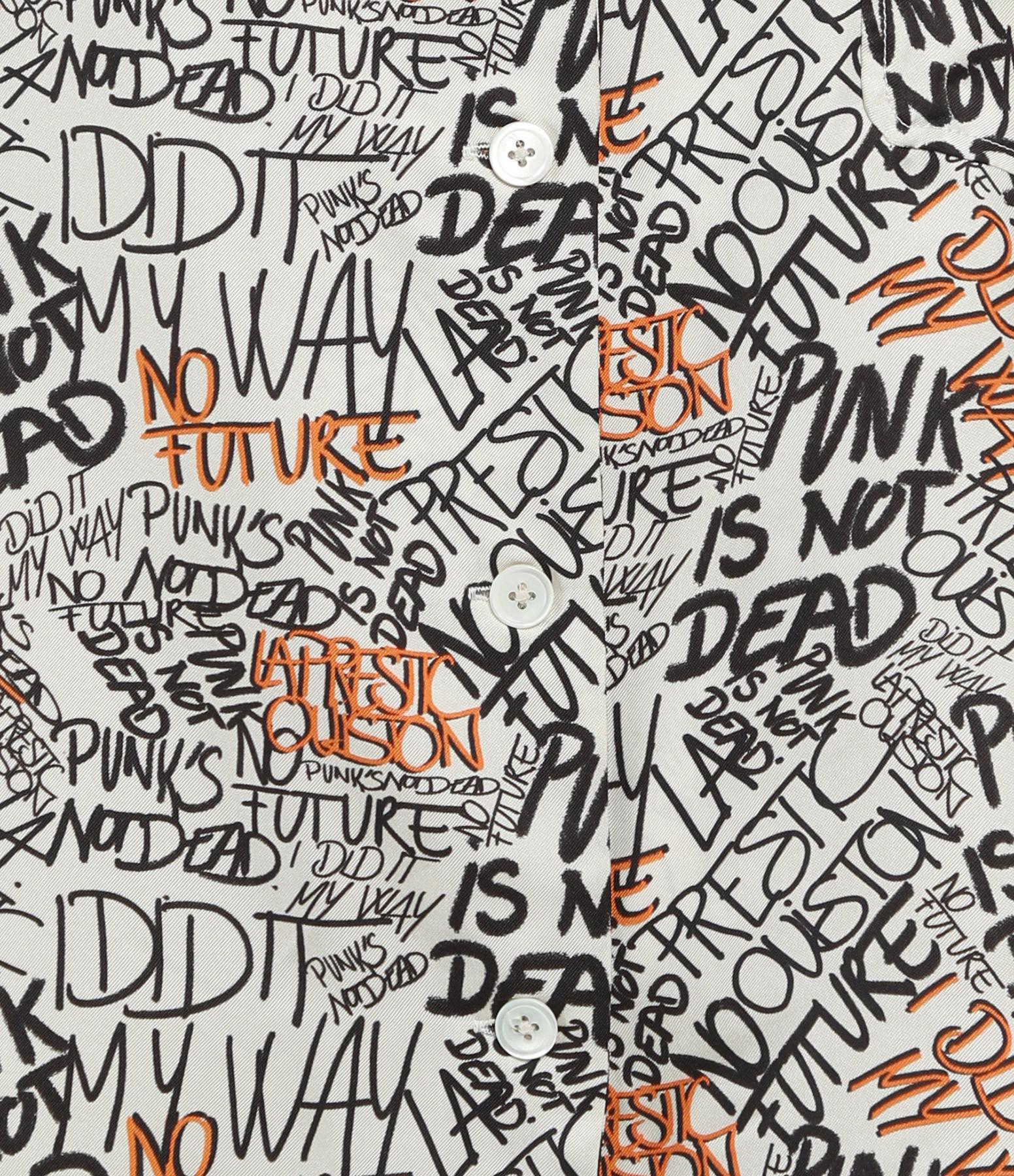 LA PRESTIC OUISTON - Chemise Hawaï Soie Graffiti