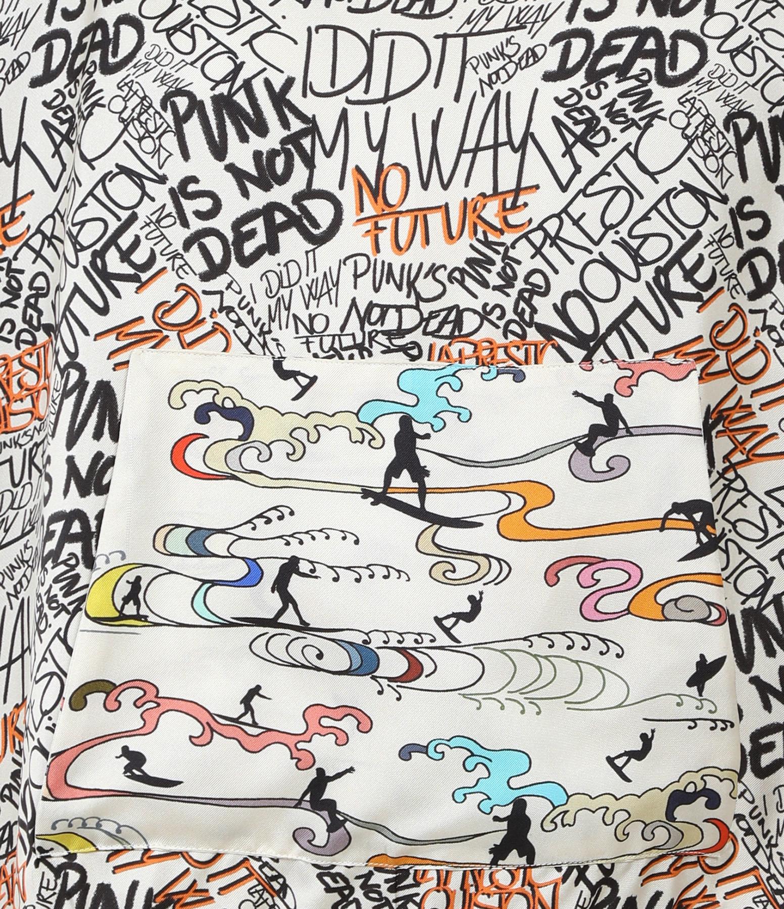 LA PRESTIC OUISTON - Sweatshirt Hoodie Soie Graffiti