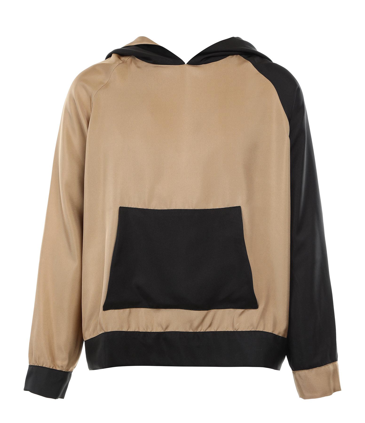 LA PRESTIC OUISTON - Sweatshirt Hoodie Soie Naturel