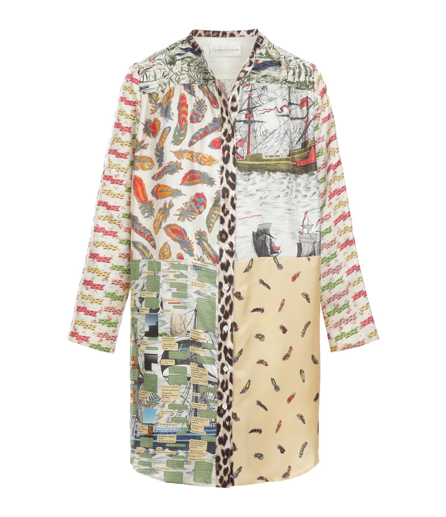 LA PRESTIC OUISTON - Robe Open It Soie Barques Imprimé