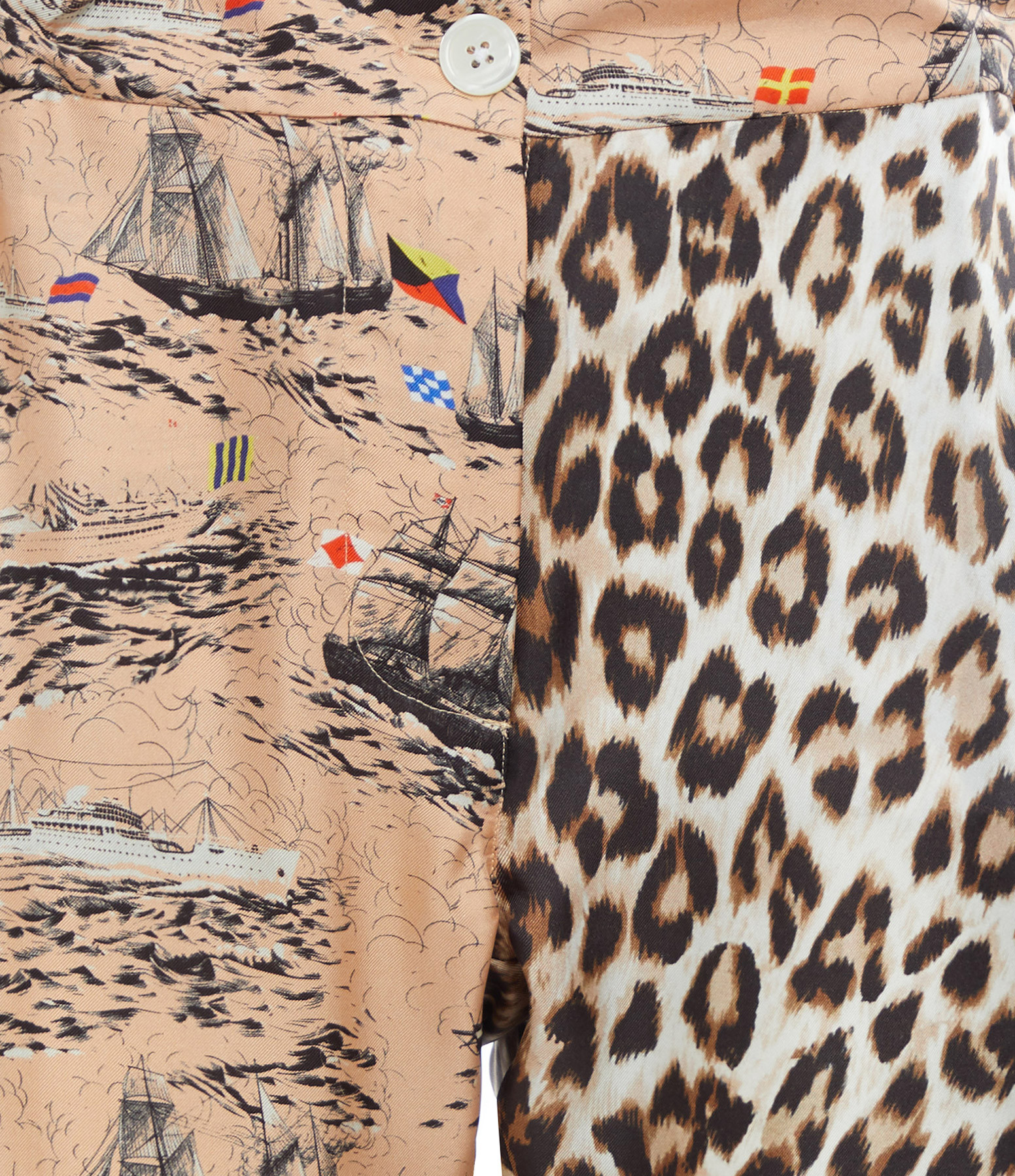LA PRESTIC OUISTON - Pantalon Lucky Soie Canali Chair Imprimé