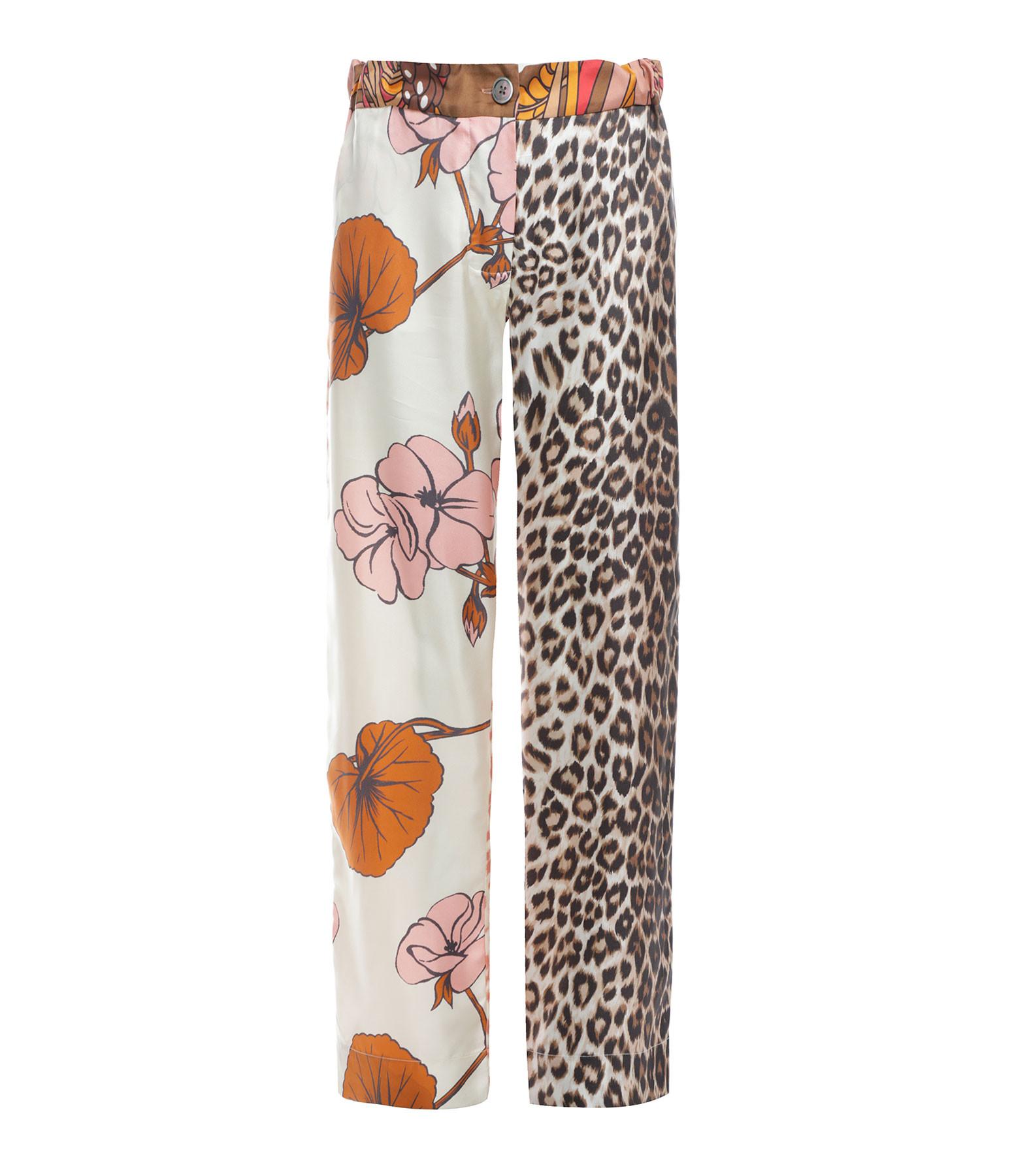 LA PRESTIC OUISTON - Pantalon Lucky Soie Imprimé Fleurs, Capsule Recyclé