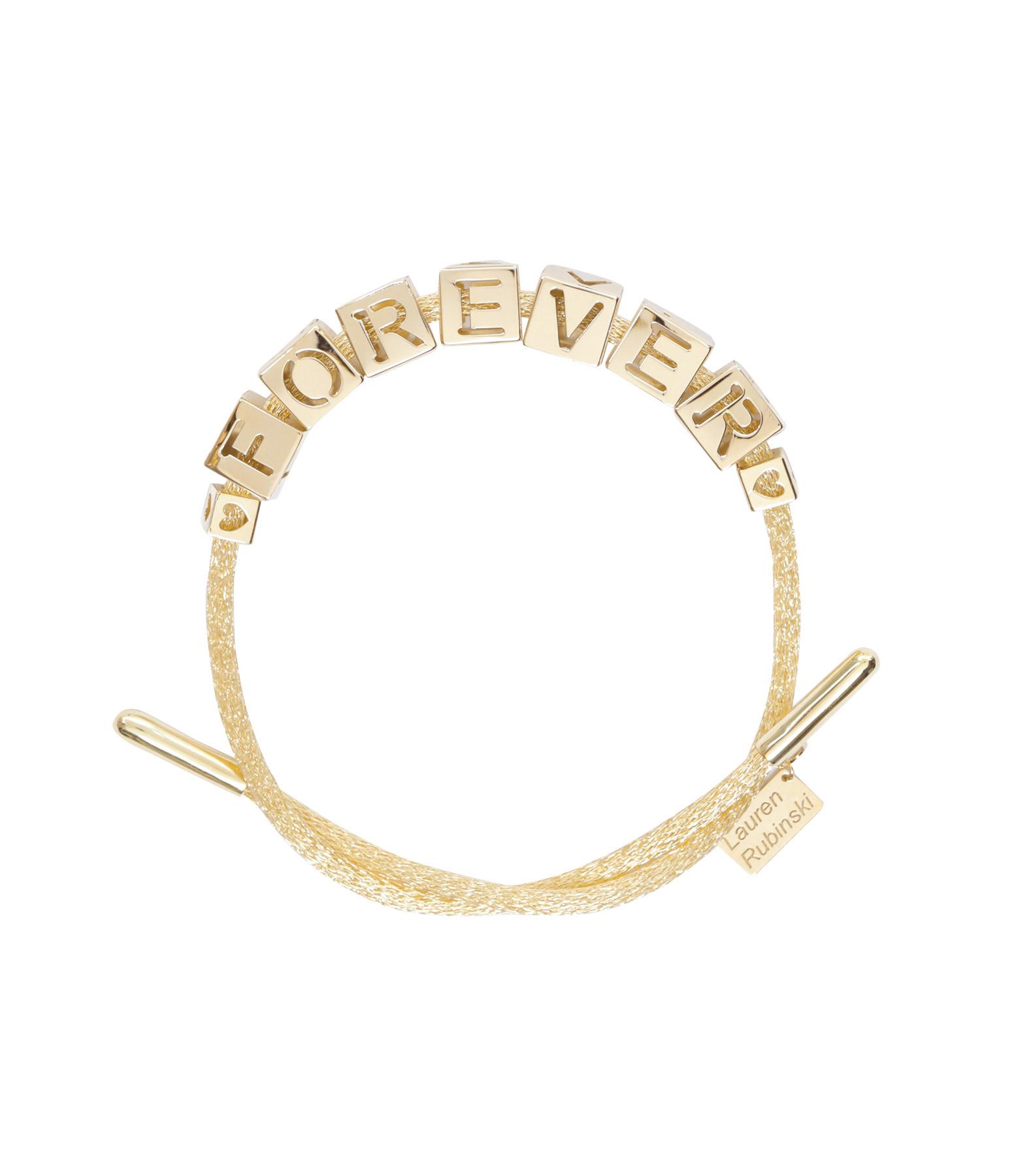 LAUREN RUBINSKI - Bracelet FOREVER 14 Carats Or Jaune