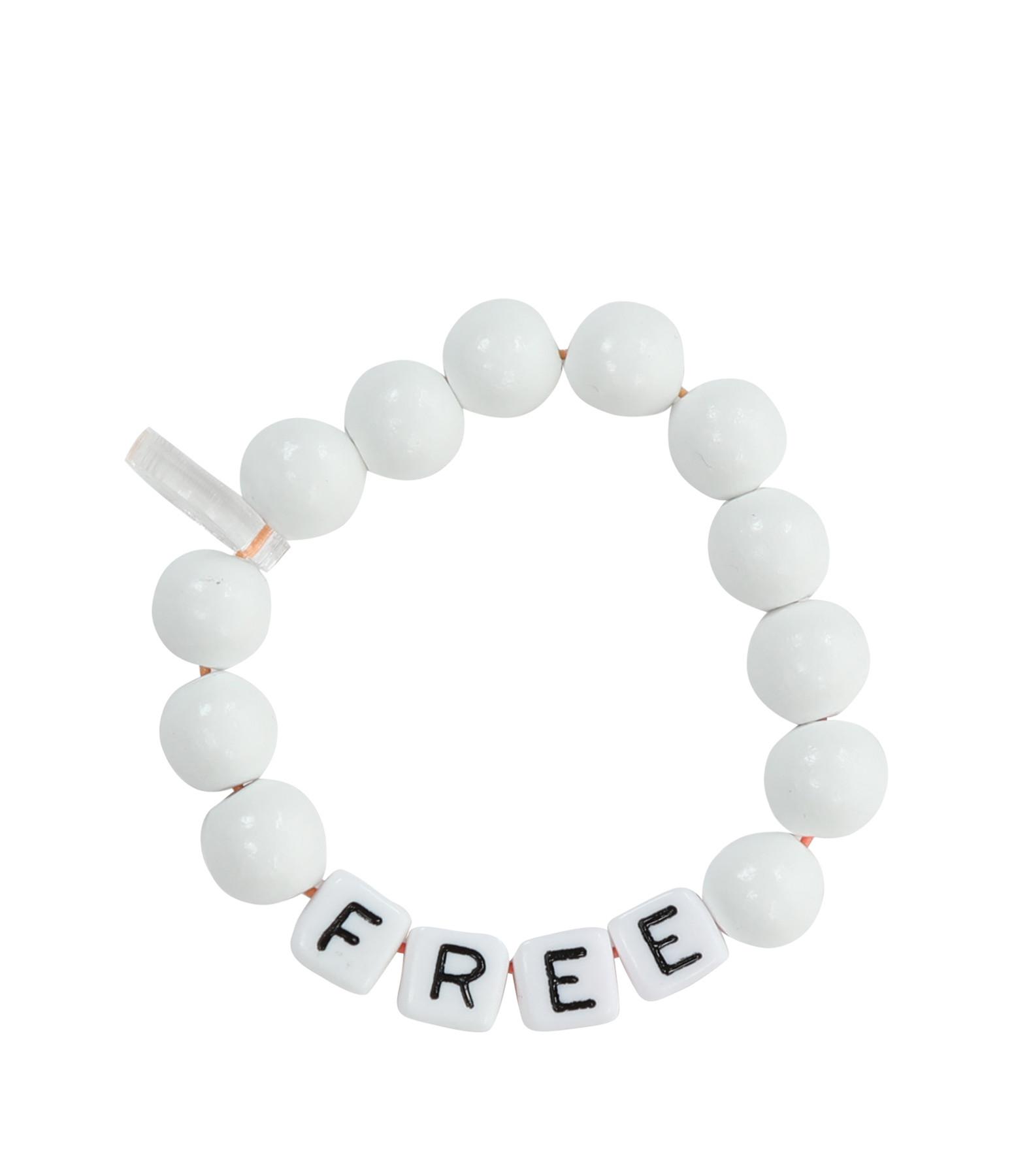 LAUREN RUBINSKI - Bracelet Love Beads Bois Plastique FREE