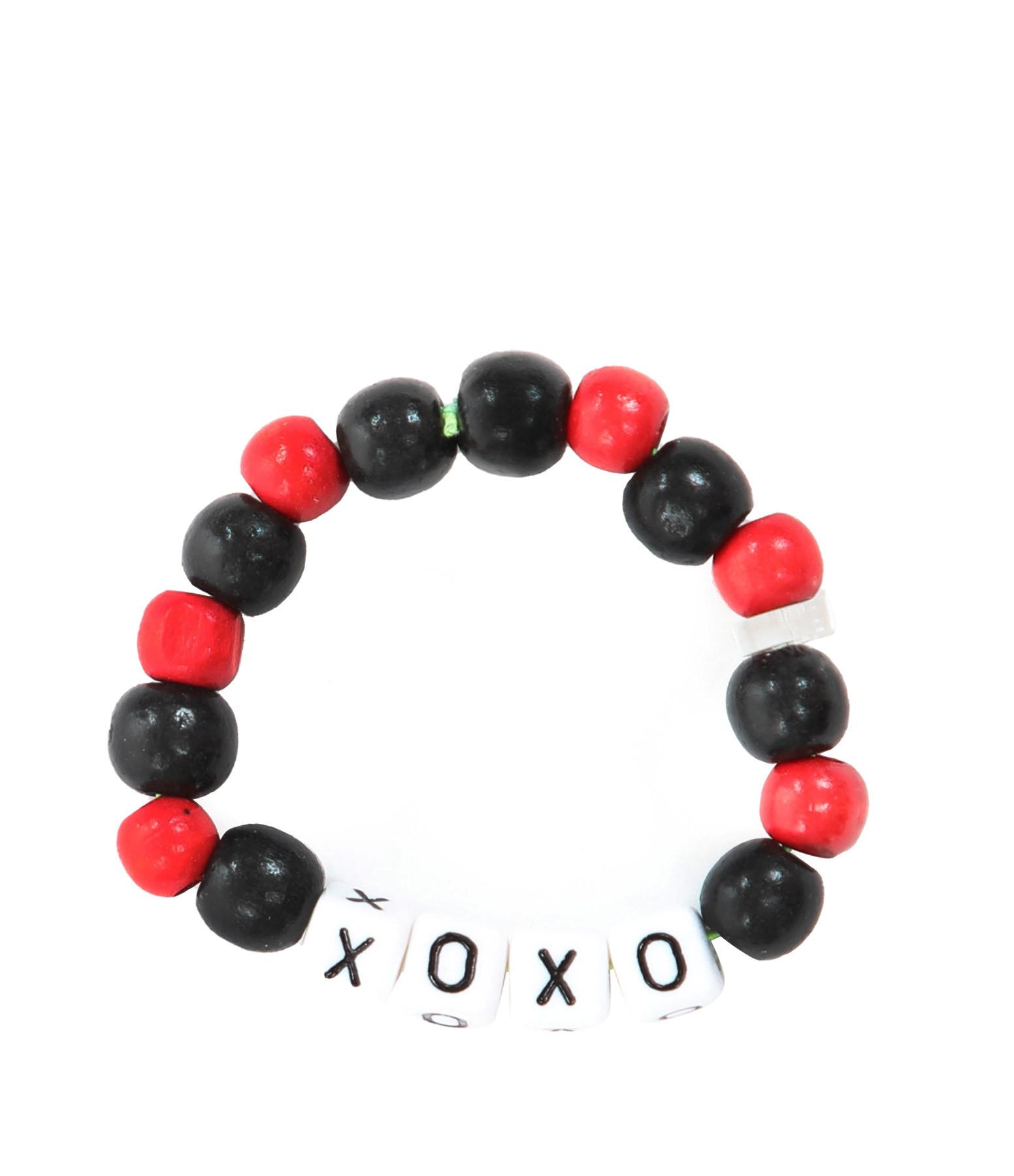 LAUREN RUBINSKI - Bracelet Love Beads Bois Plastique XOXO