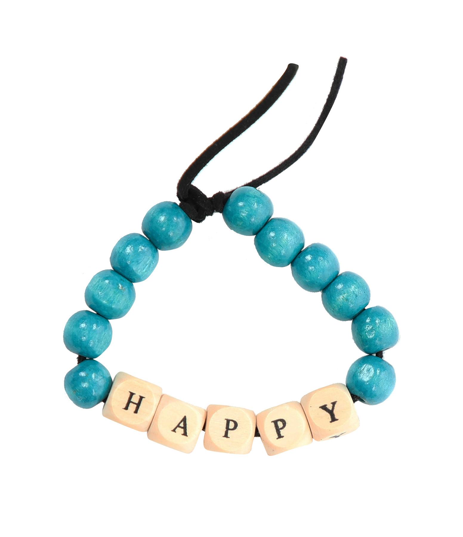 LAUREN RUBINSKI - Bracelet Love Beads Bois HAPPY
