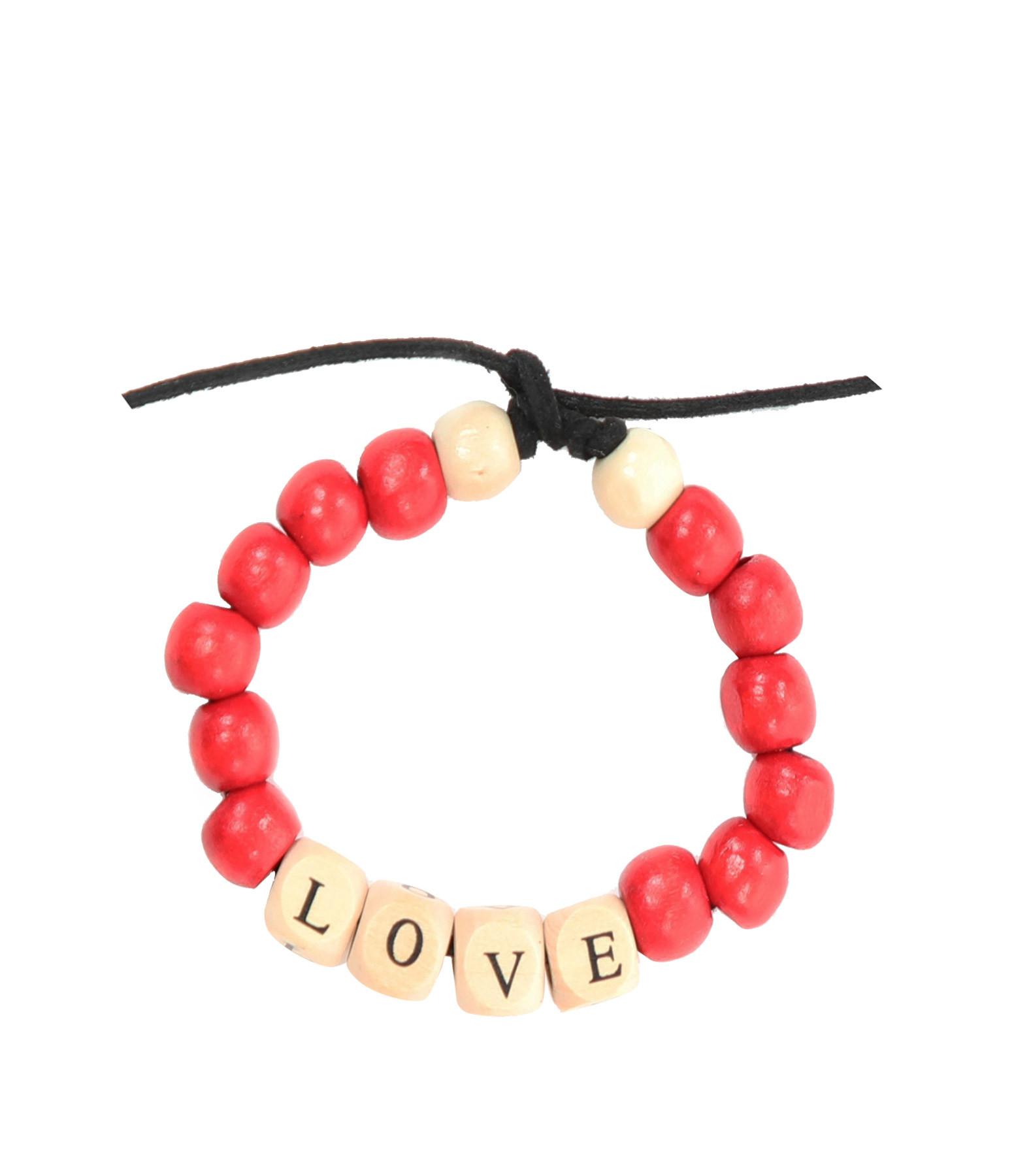 LAUREN RUBINSKI - Bracelet Love Beads Bois LOVE