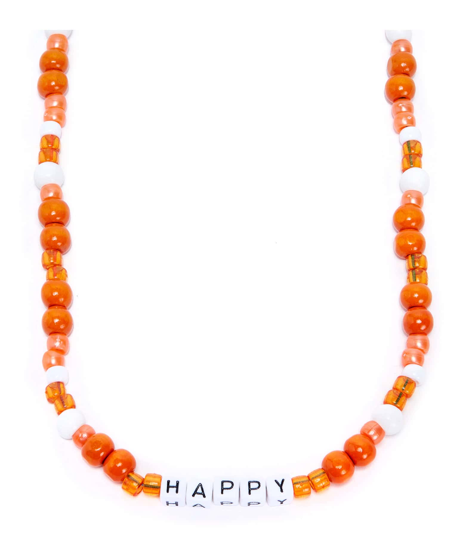 LAUREN RUBINSKI - Collier Love Beads Bois Plastique HAPPY