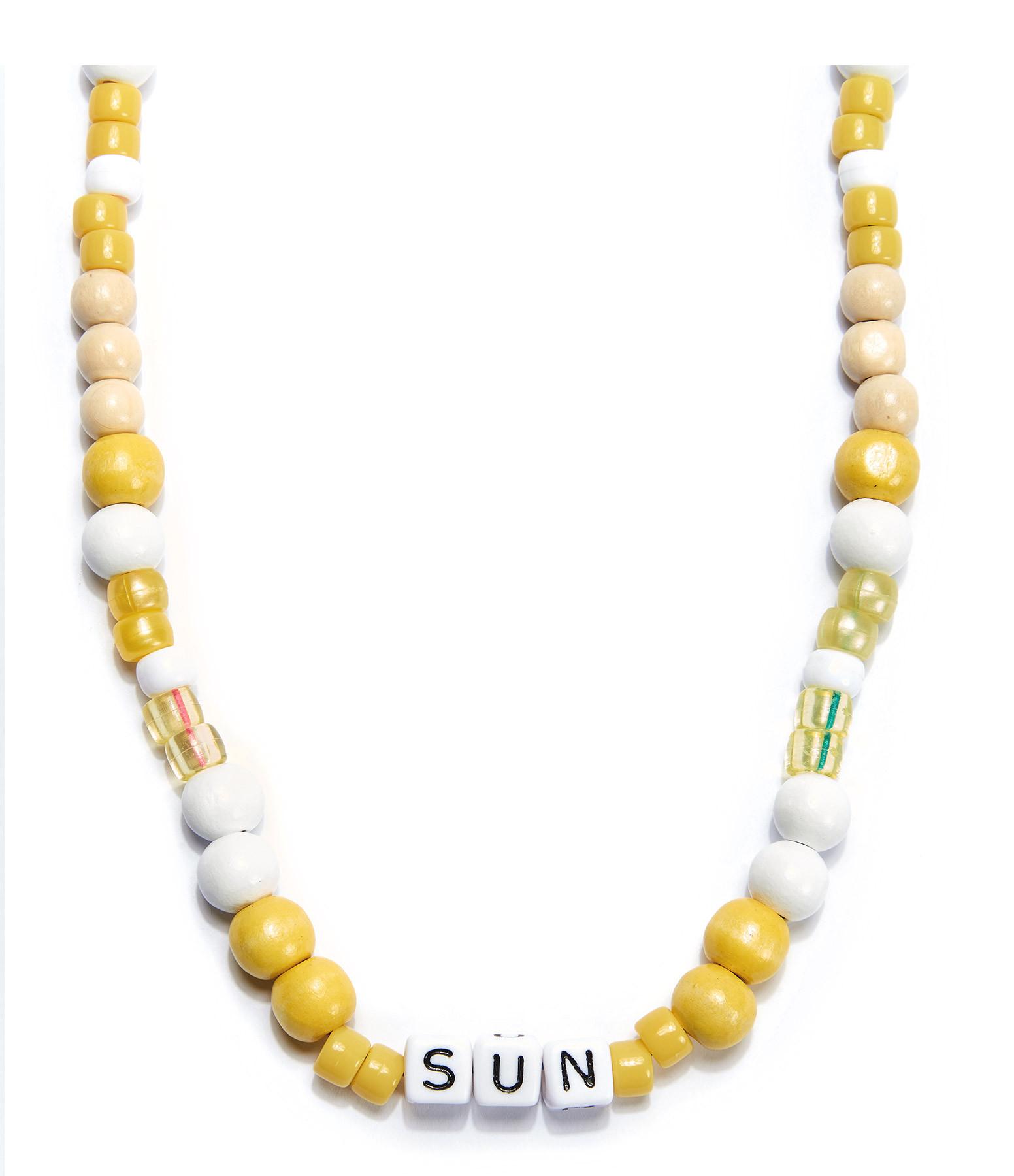 LAUREN RUBINSKI - Collier Love Beads Bois Plastique SUN