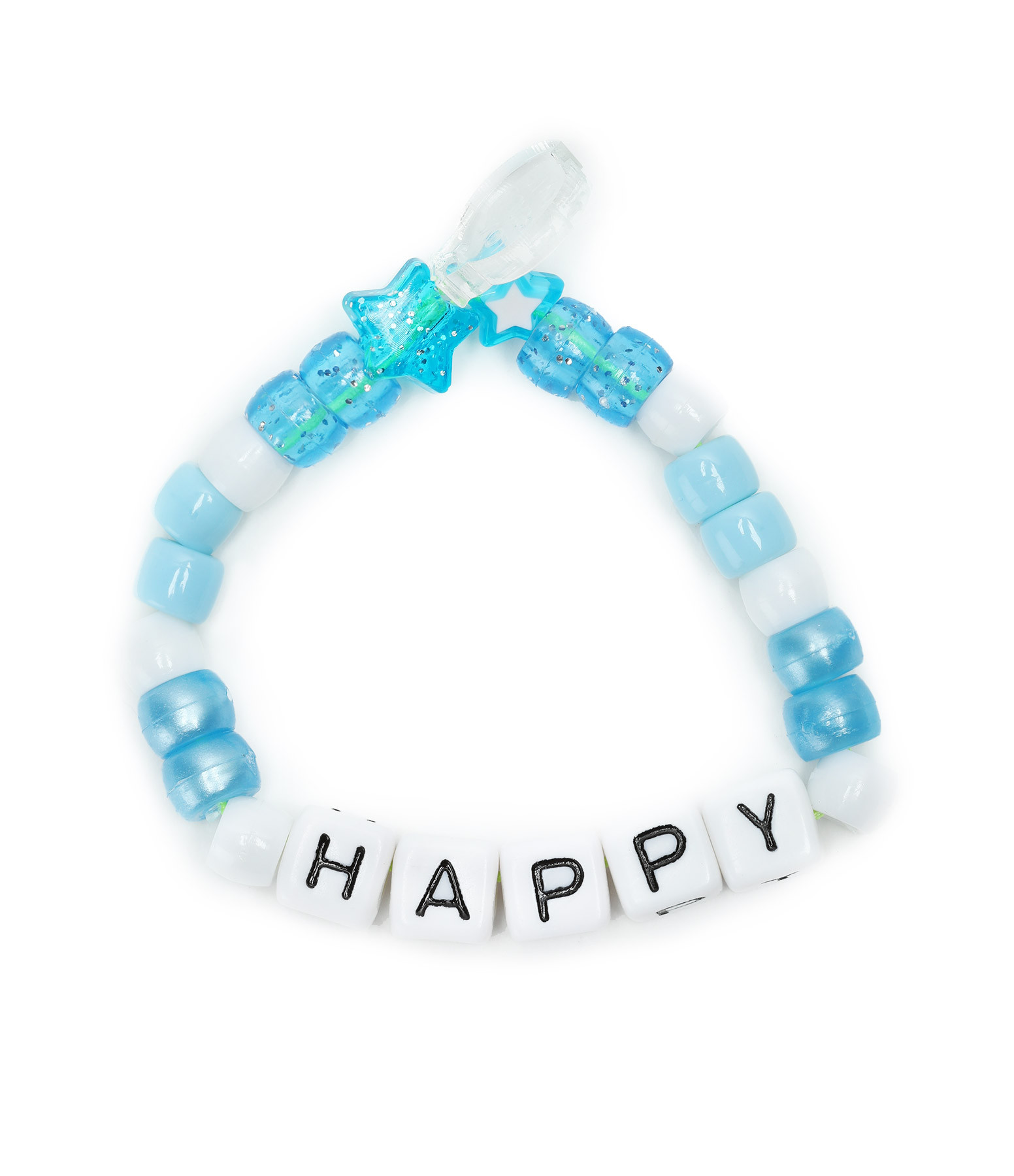 LAUREN RUBINSKI - Bracelet Love Beads HAPPY Bleu