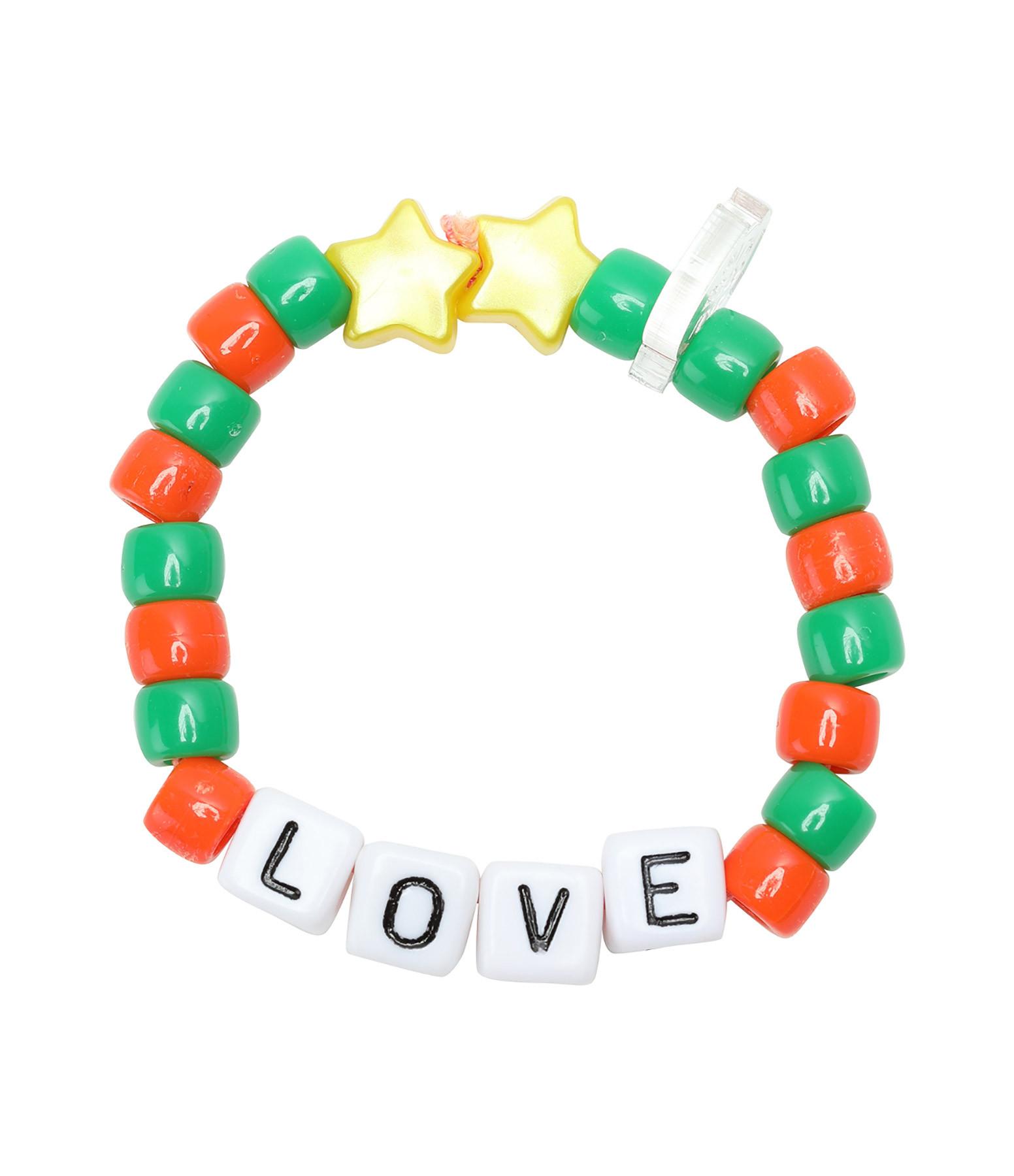 LAUREN RUBINSKI - Bracelet Love Beads LOVE Orange Vert