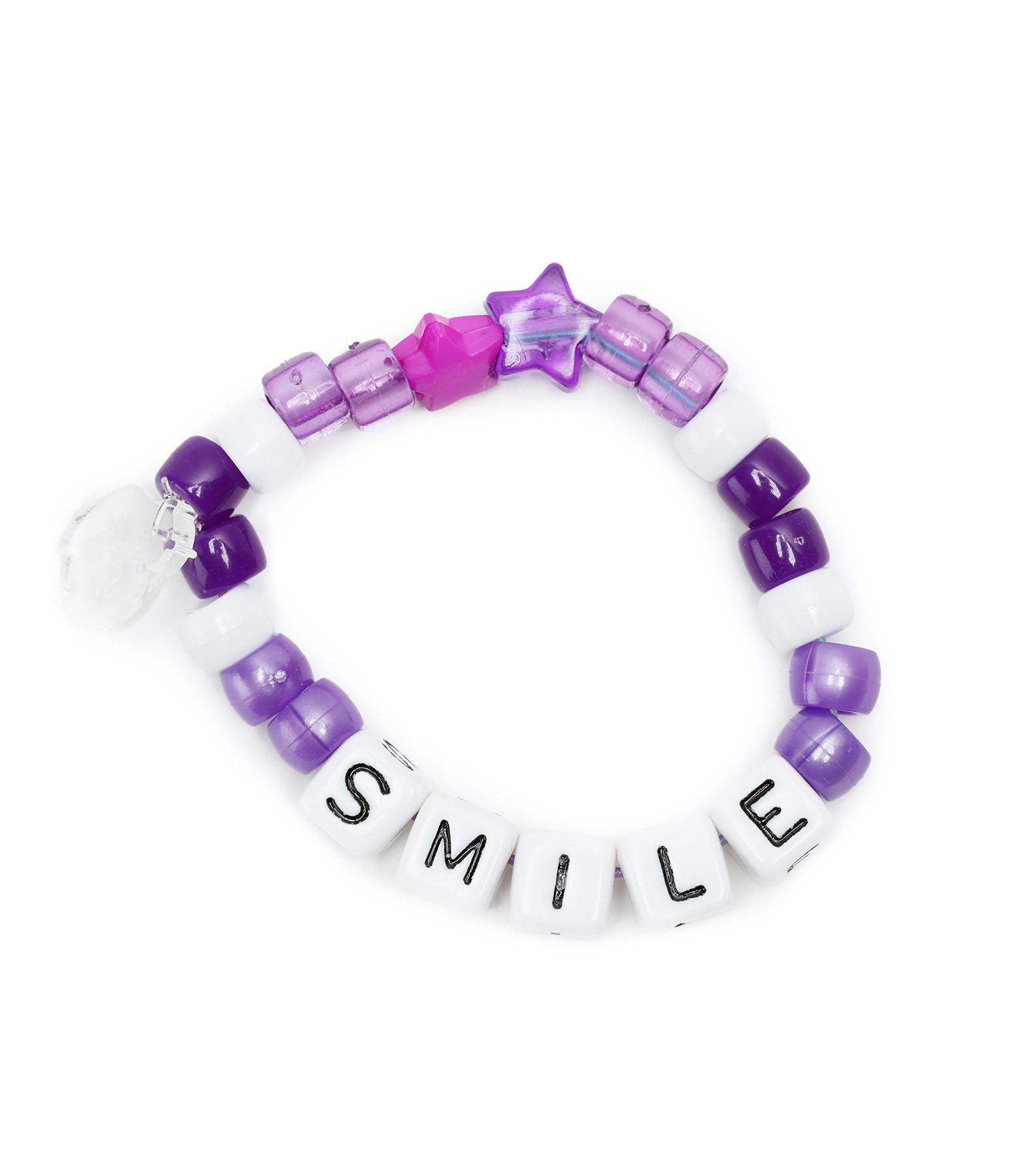 LAUREN RUBINSKI - Bracelet Love Beads SMILE Violet