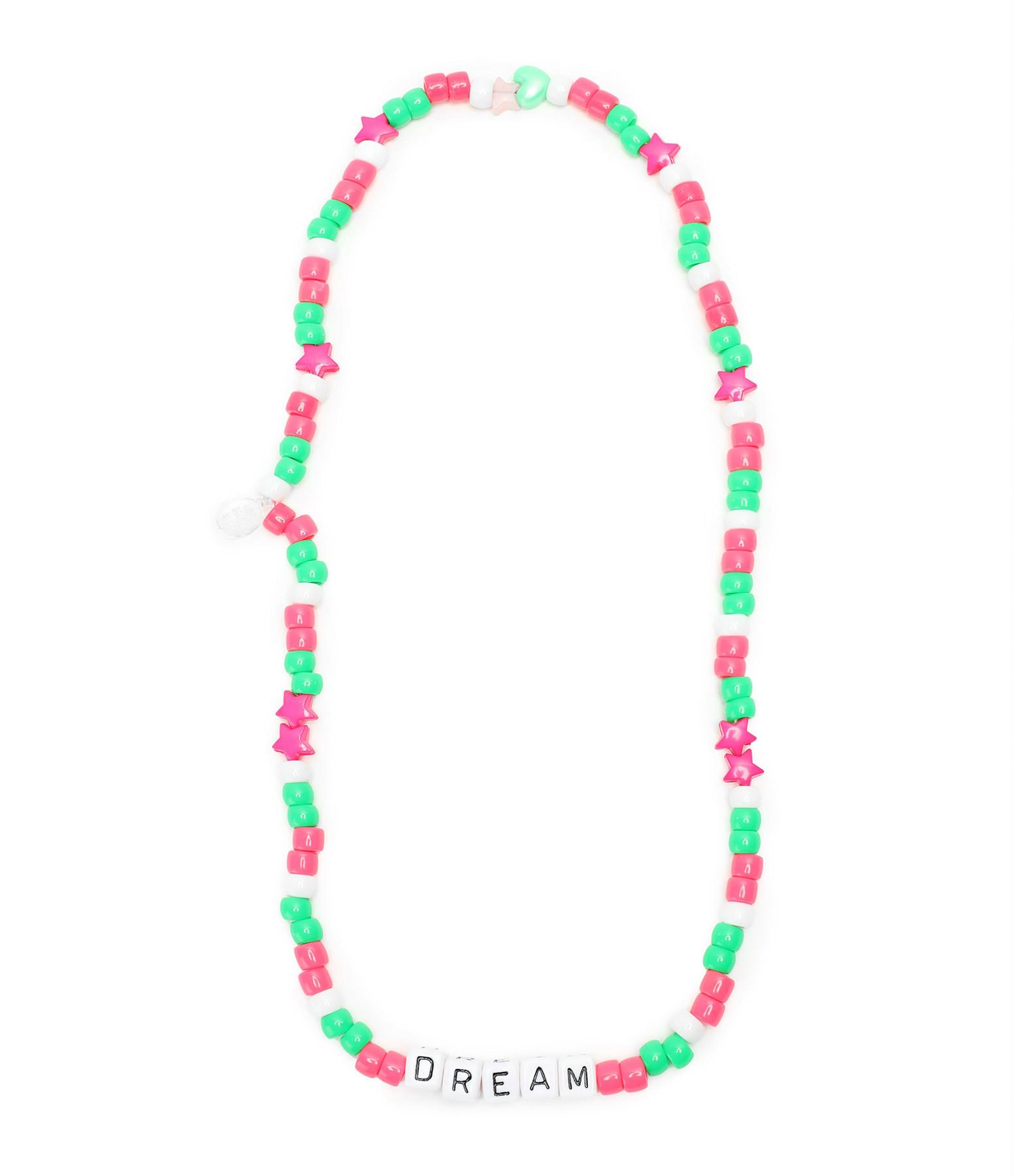 LAUREN RUBINSKI - Collier Love Beads DREAM Rose Vert