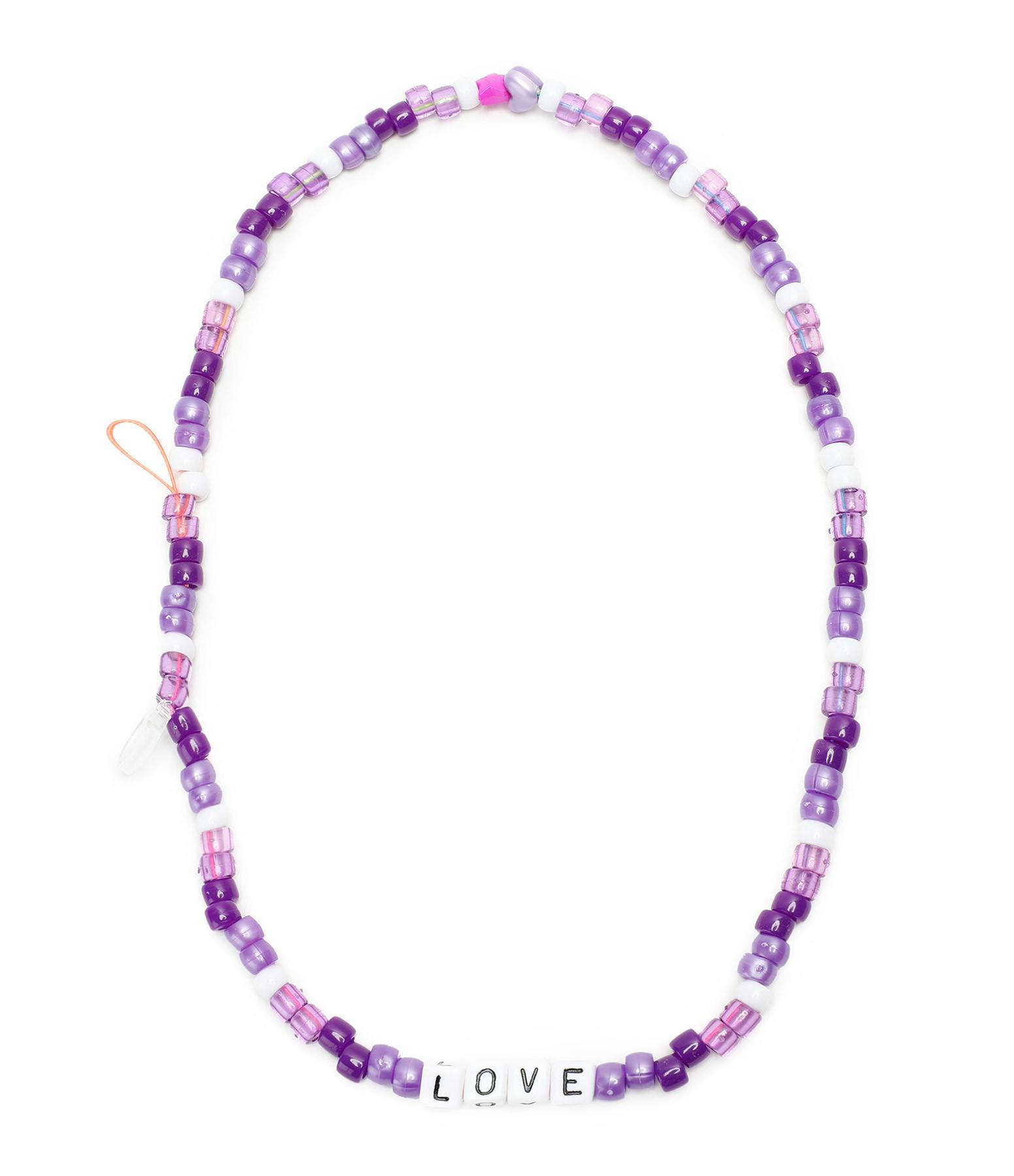 LAUREN RUBINSKI - Bijou de Téléphone Love Beads LOVE Violet