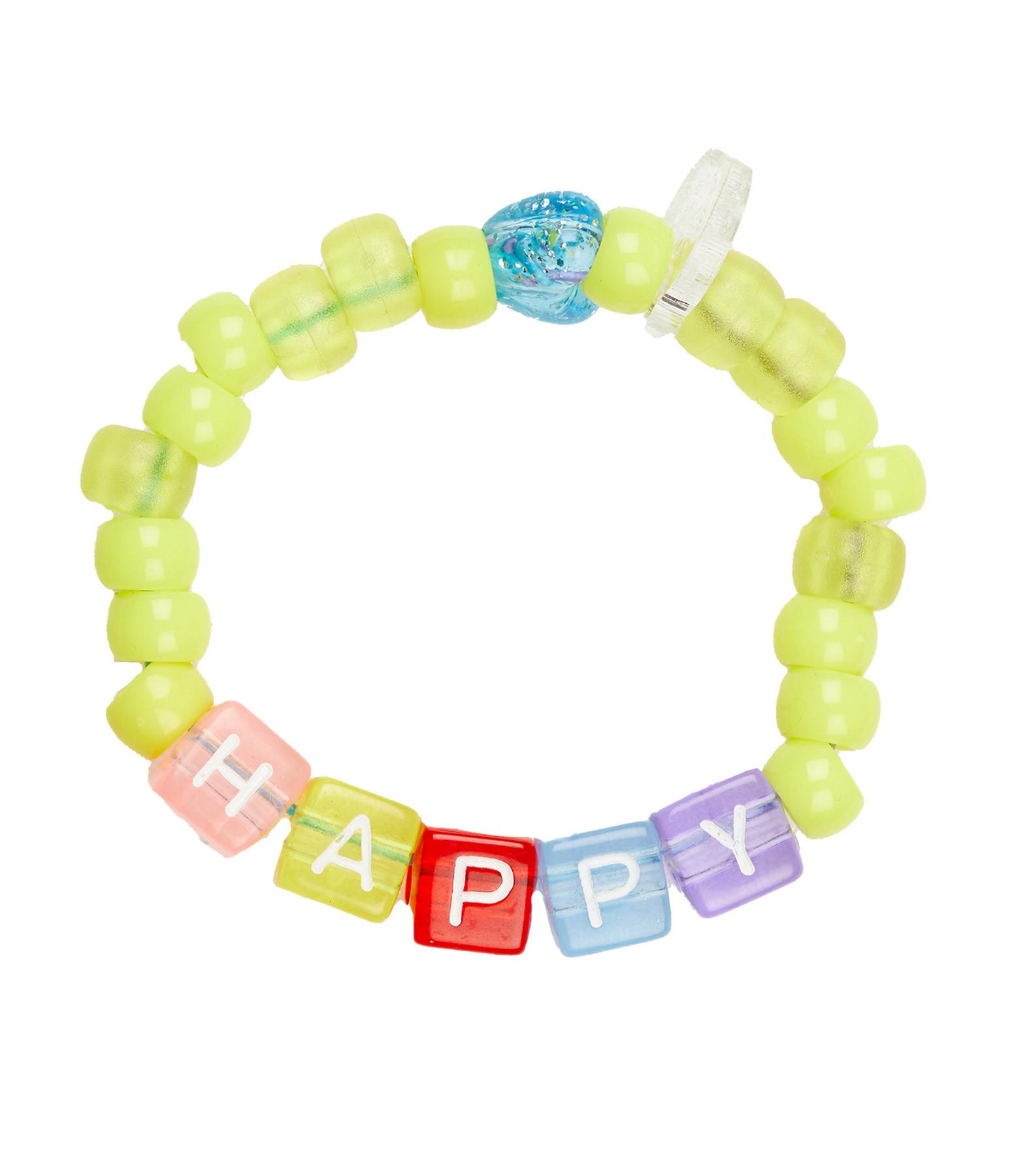 LAUREN RUBINSKI - Bracelet Love Beads HAPPY Jaune