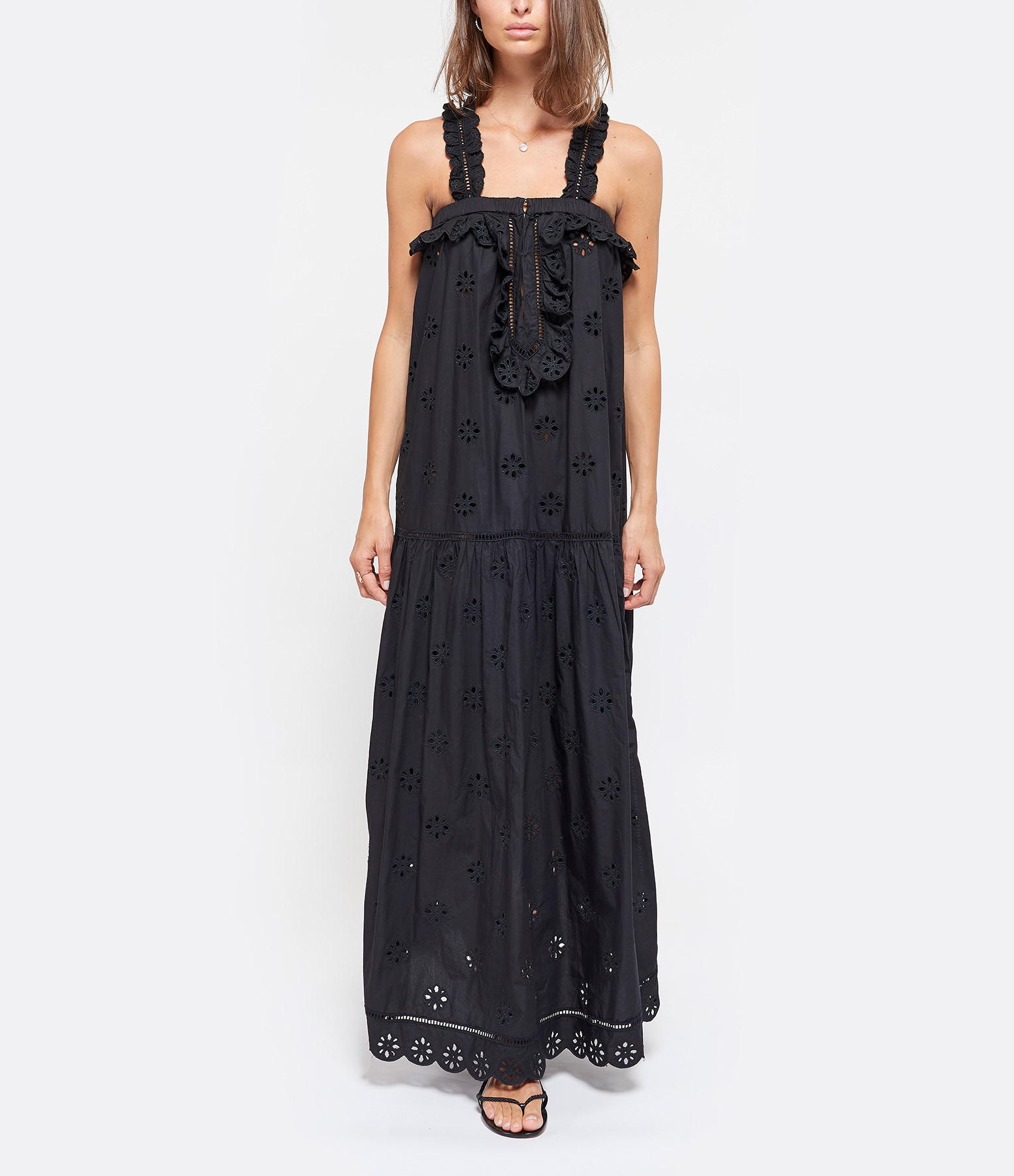 LAURENCE BRAS - Robe Miney Coton Noir
