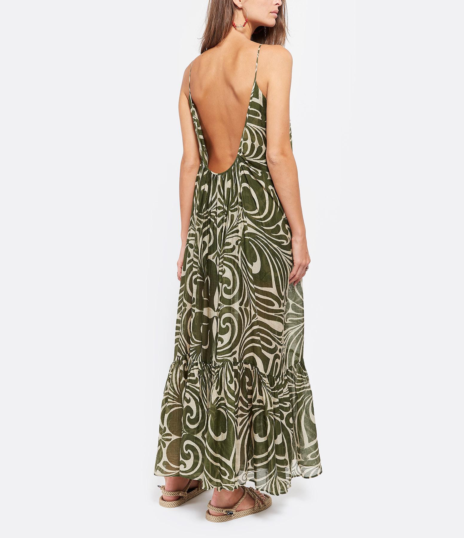 LAURENCE BRAS - Robe Saint Tropez Coton Soie Vert