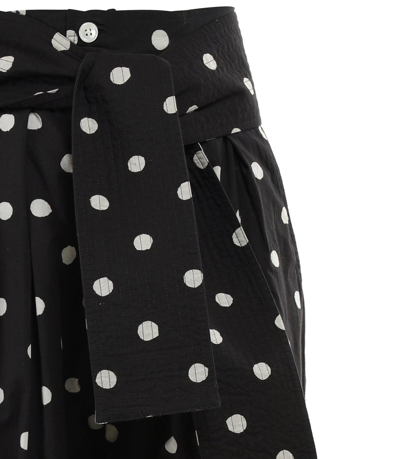 LAURENCE BRAS - Pantalon Mojito Coton Pois Noir