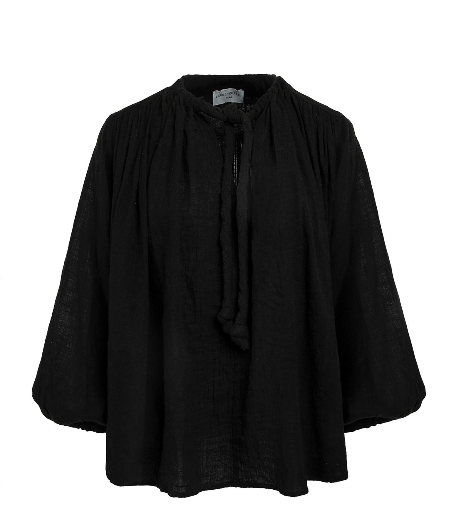 LAURENCE BRAS - Blouse Malboro Coton Noir
