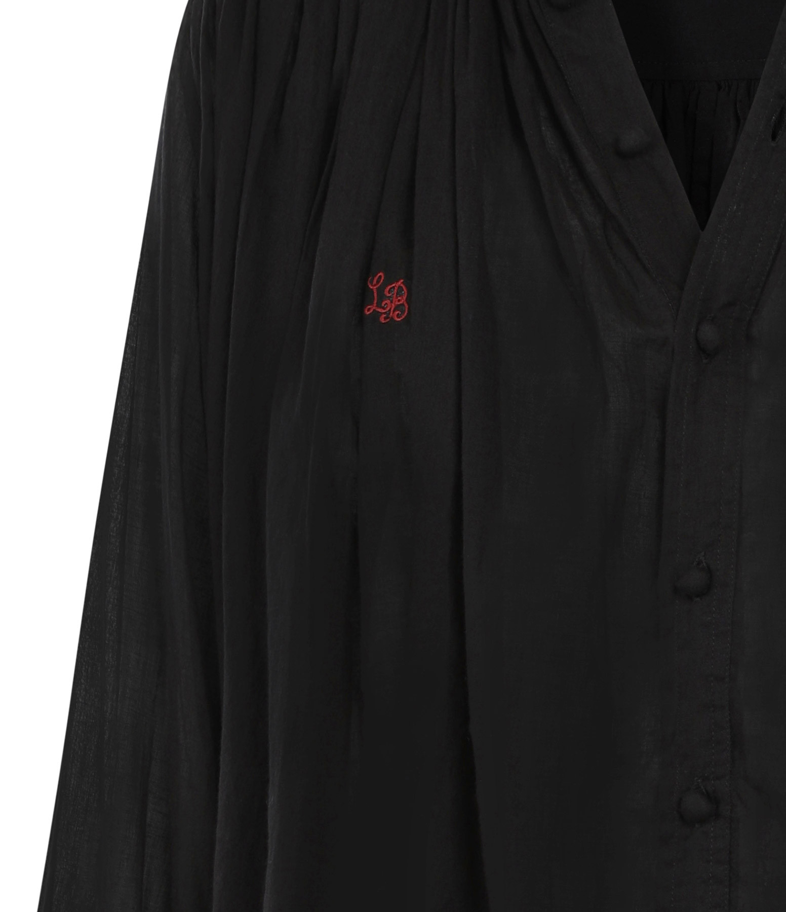 LAURENCE BRAS - Blouse Cigar Coton Noir